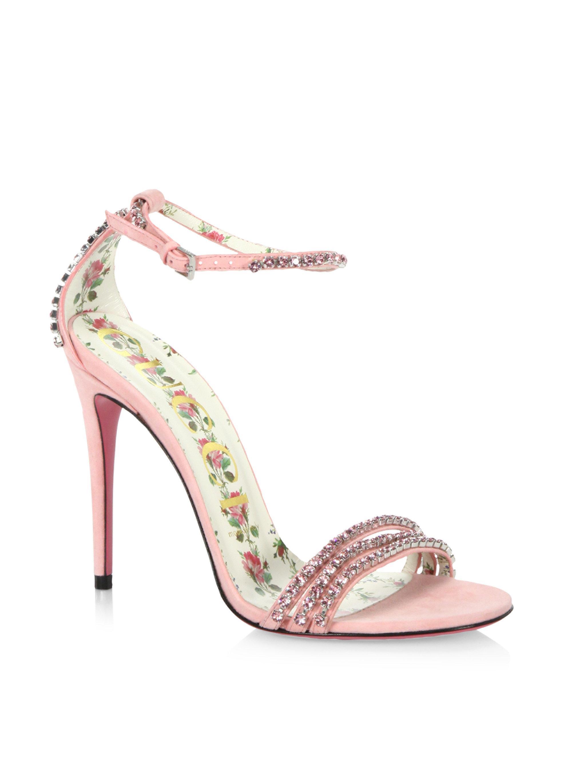 Gucci Isle Jewel Suede Sandals w7jsBo