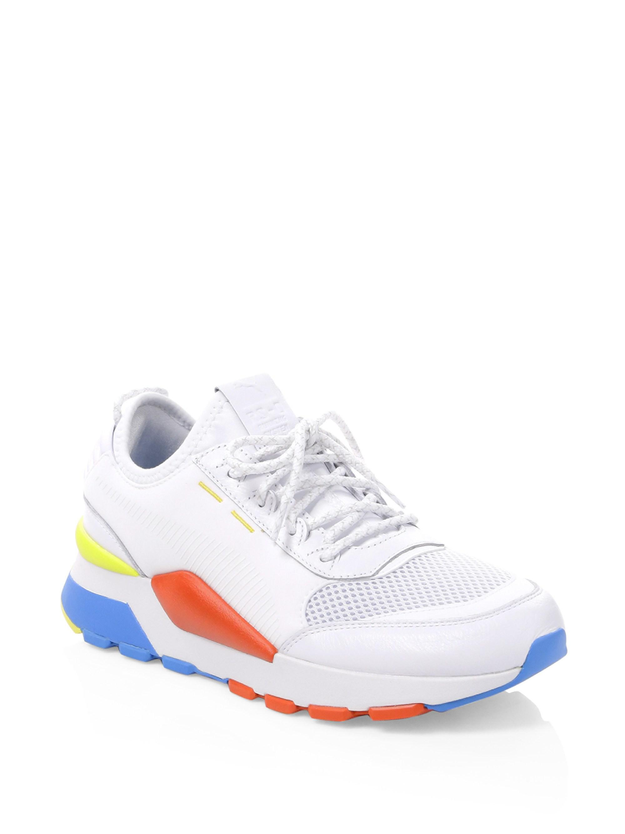 b6597e77e5f Puma Play Colorblock Sneakers in White for Men - Lyst