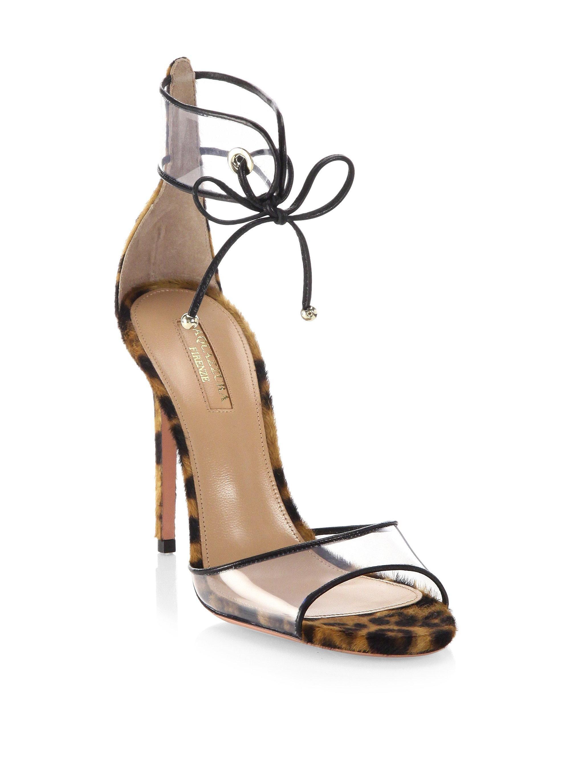 Aquazzura Optic Leopard Calf Hair Sandals jX7SXVTf4k