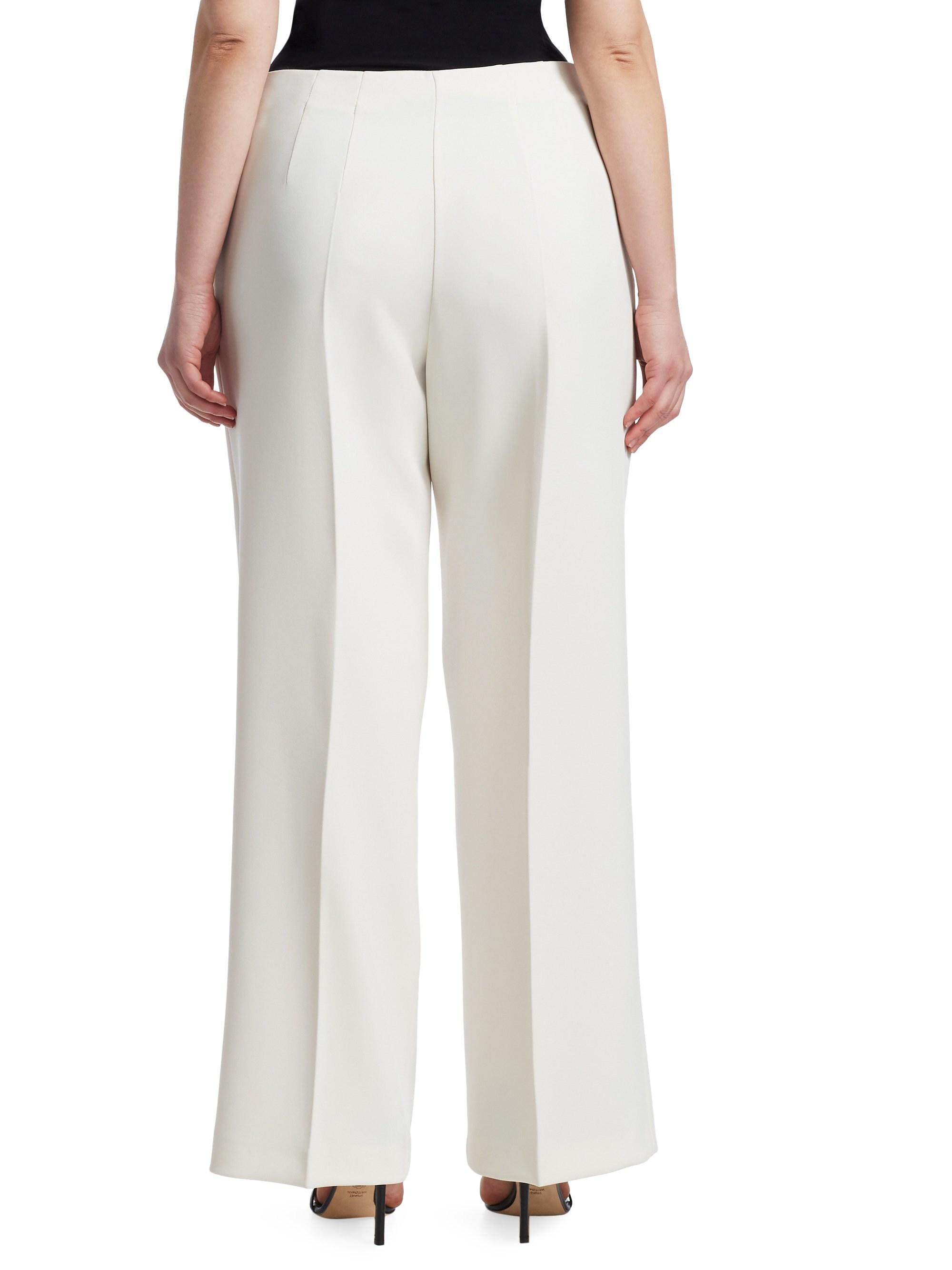 4f48d058488 Lyst - Marina Rinaldi Radice Wide-leg Trousers in White
