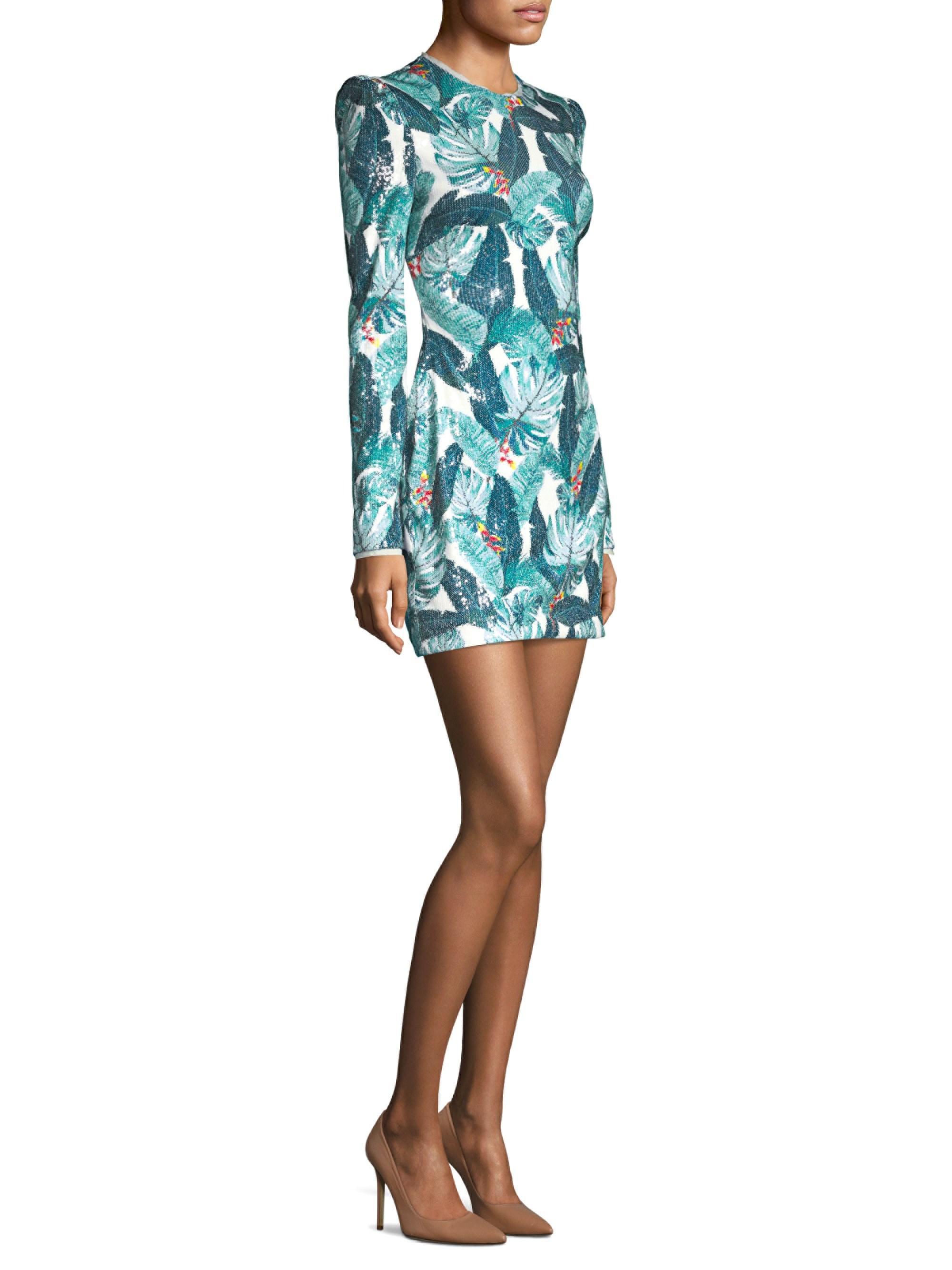 287019fa8451 Rachel Zoe Women's Amelia Sequin Dress - Size 4 in Green - Lyst