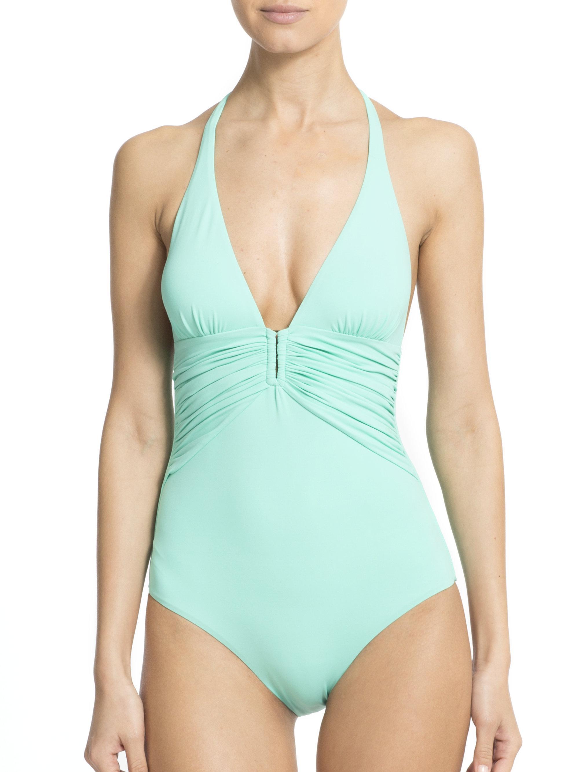 1b17f56465 Lyst - Melissa Odabash One-piece Maua Deep V Swimsuit in Green