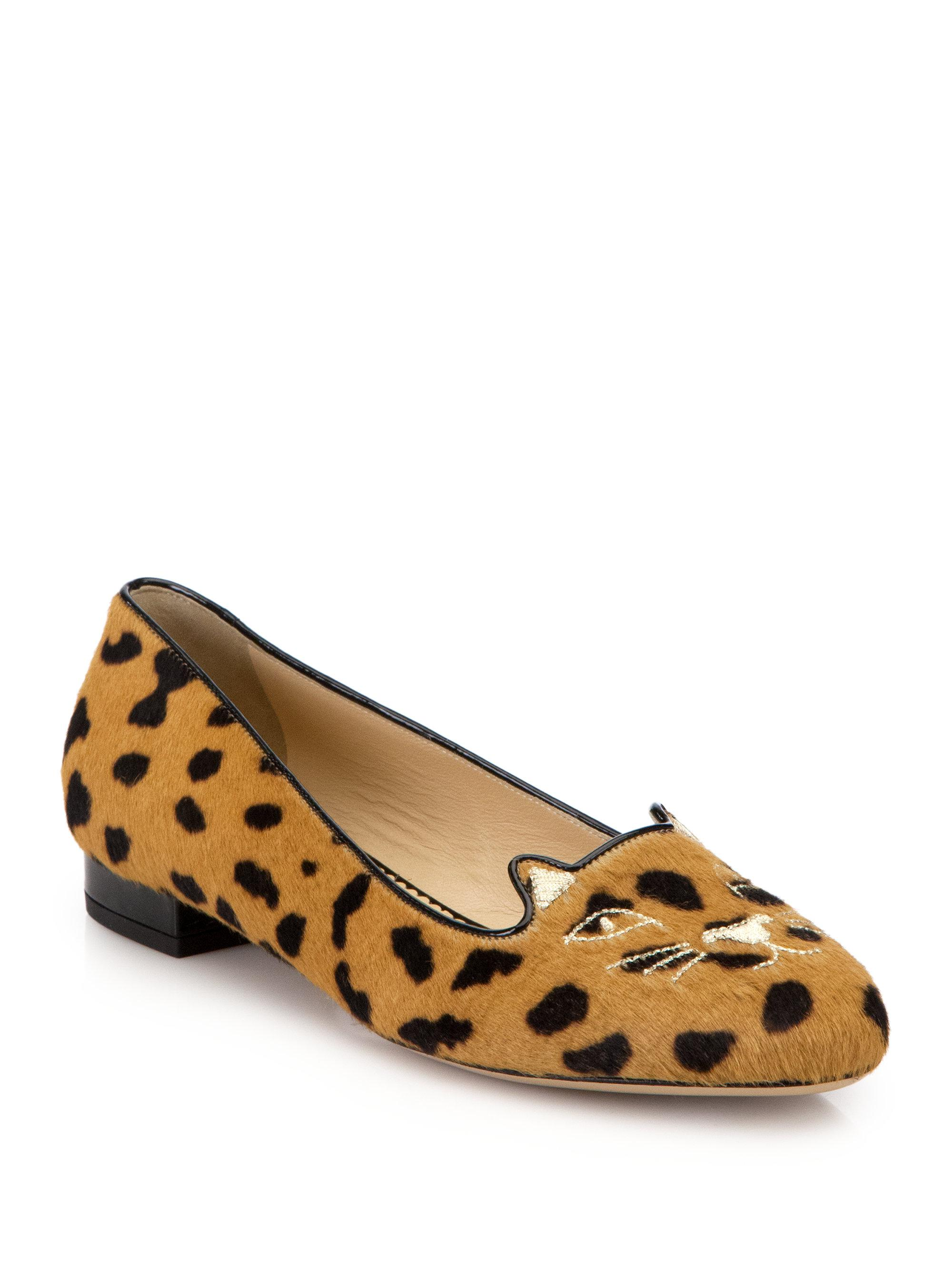 Charlotte Olympia leopard print ballerina shoes Cheapest cheap online largest supplier sale online sale fast delivery with paypal yVpToM3Q