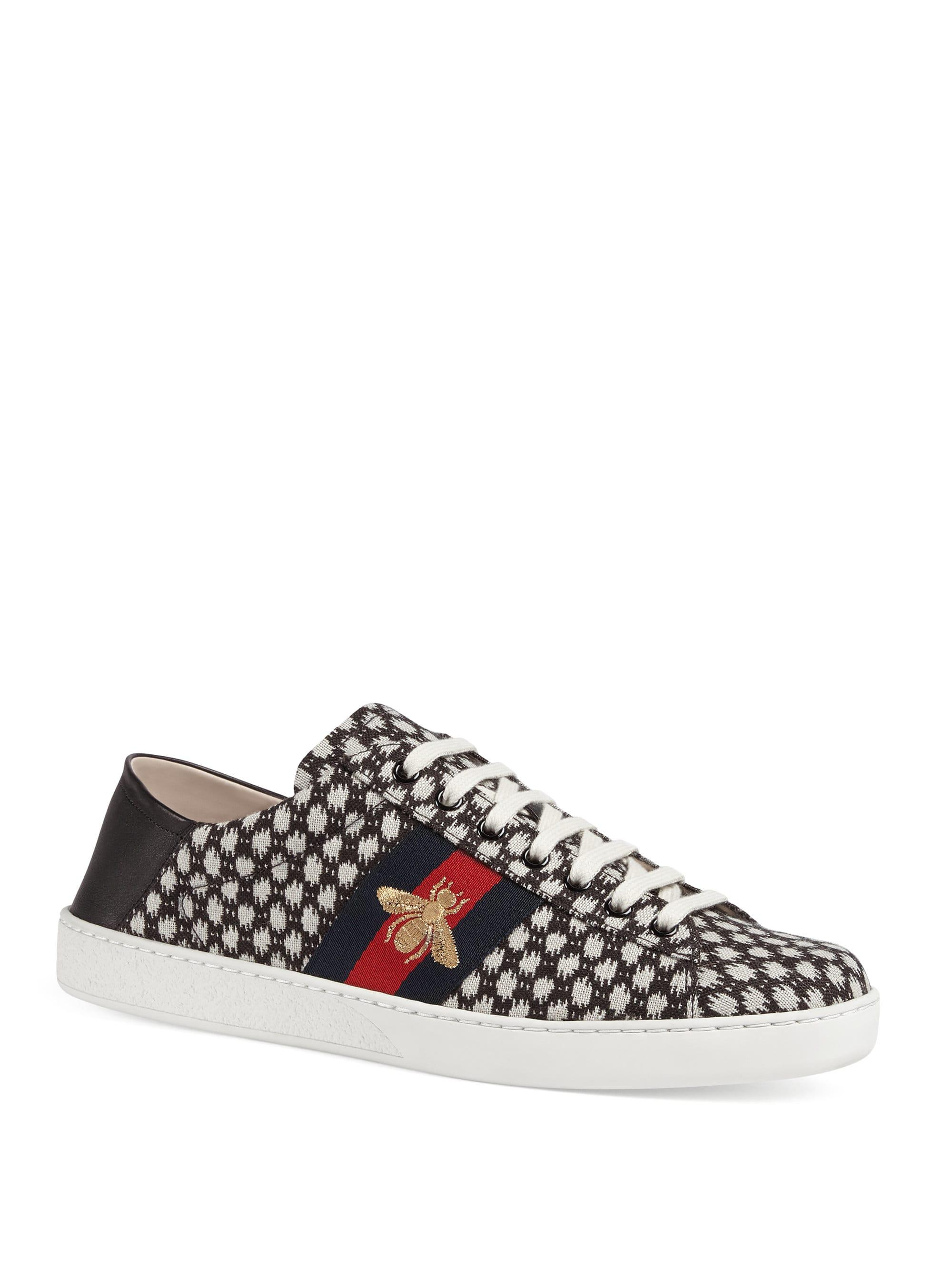 b2f9ae10635 Gucci New Ace Jacquard Sneaker for Men - Lyst