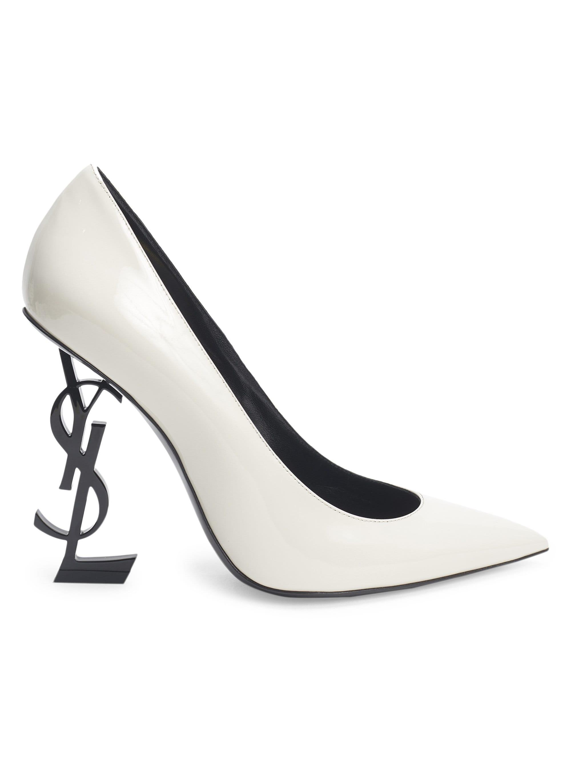 Lyst - Saint Laurent Women s Opyum Point Toe Leather Pumps - Latte ... 75542872cc