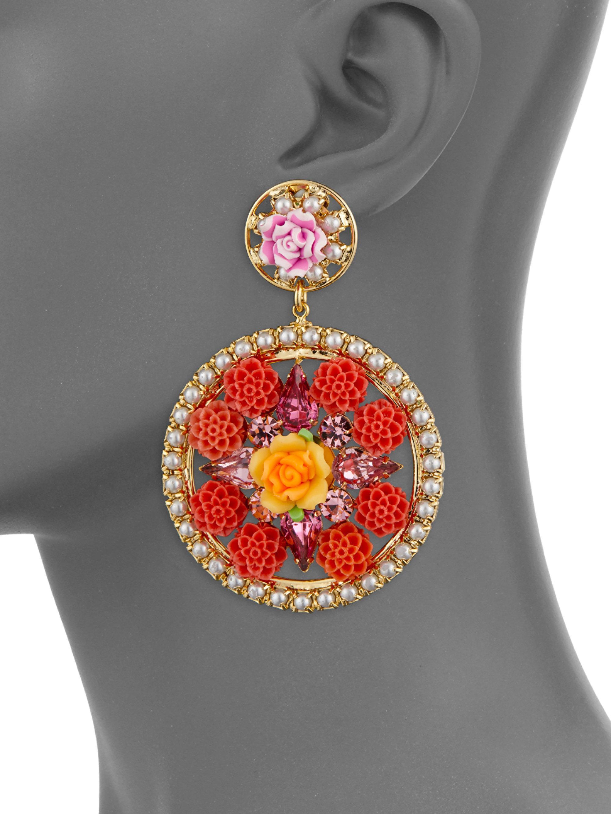 Dannijo Maddie Floral Statement Earrings UGMjl9AUQX