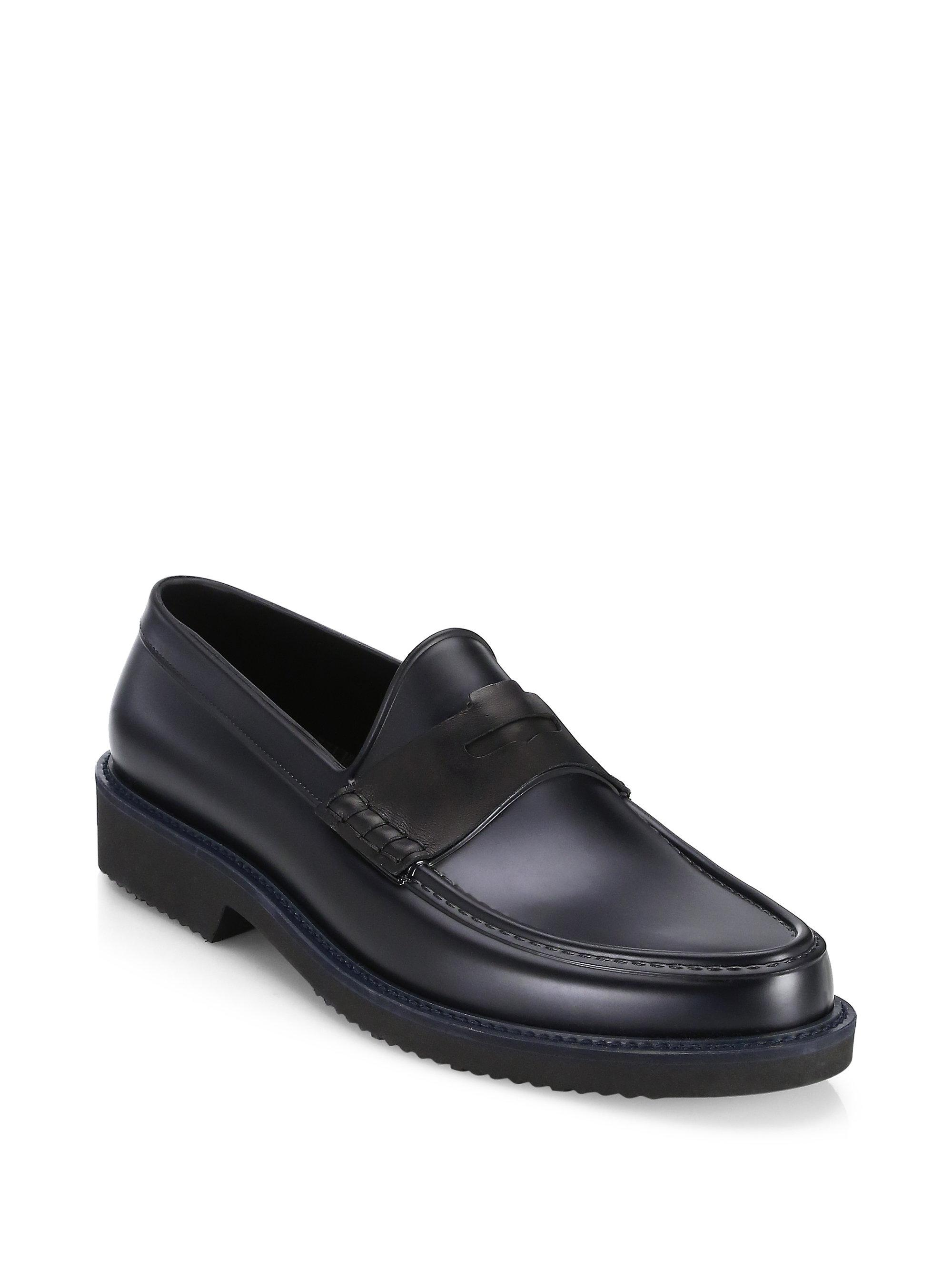 Saks Fifth Avenue COLLECTION All-Weather Rubber Penny Loafer 50zTg
