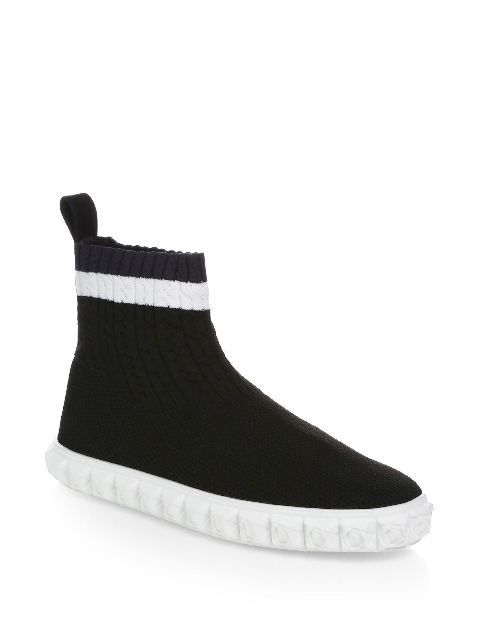 Stuart Weitzman Coverall High-Top Sock Sneaker xJcBM