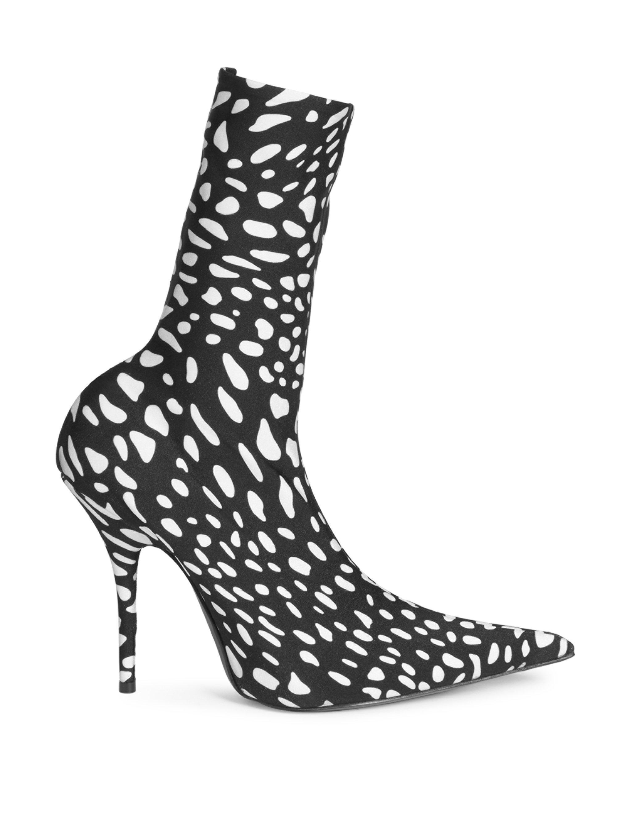 b46239d8f Balenciaga Animal-print Booties in Black - Lyst