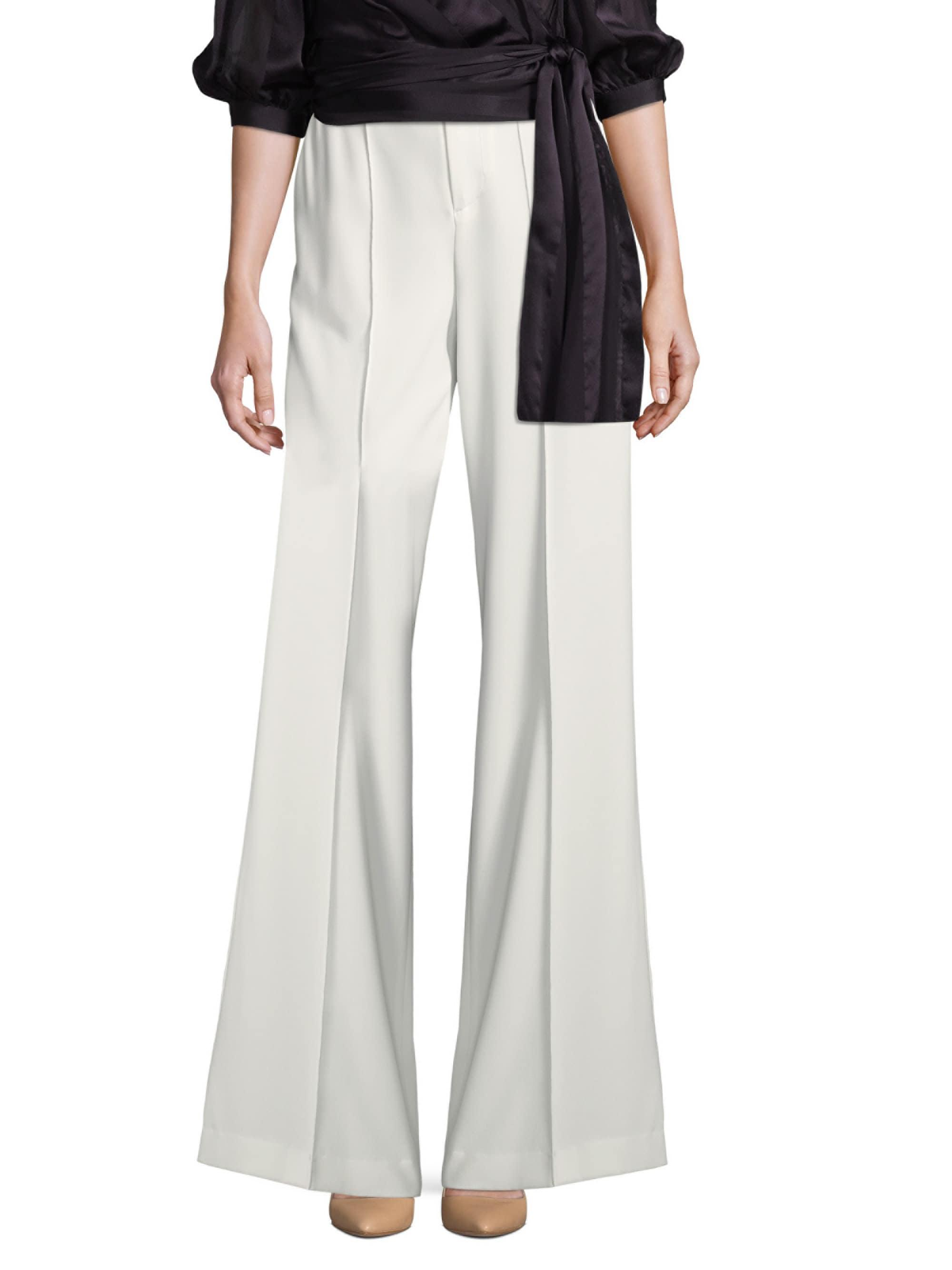 a5f43a2734 Lyst - Alice + Olivia Dylan Wide Leg Pants in White