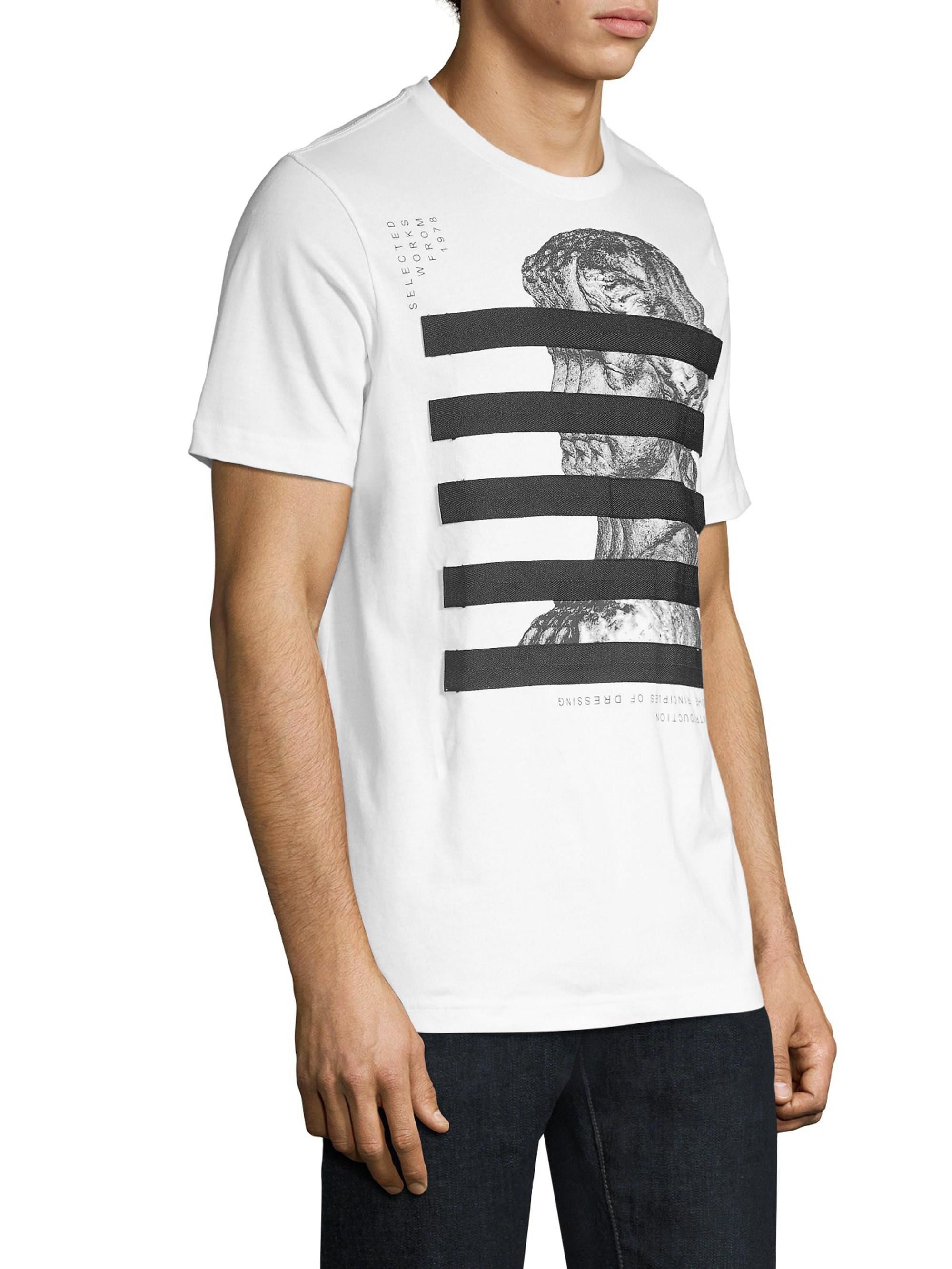 087cf468 DIESEL Just-yo Graphic T-shirt in White for Men - Lyst
