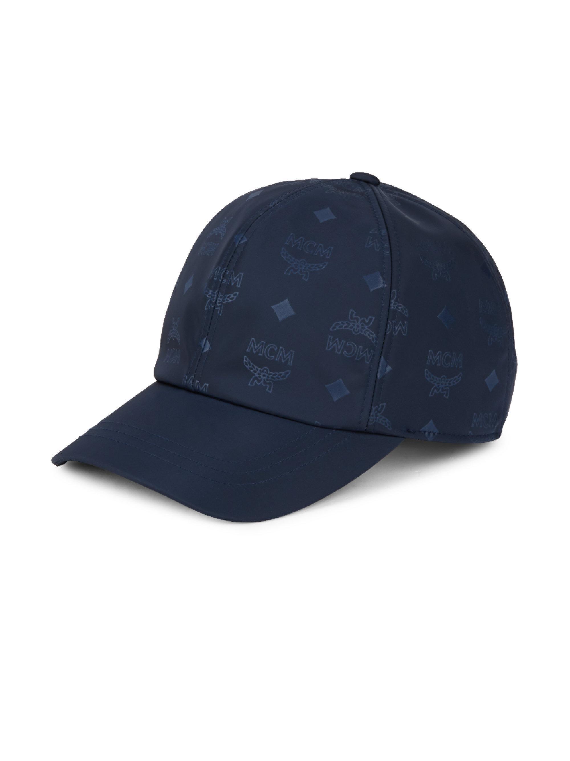 2922c73dd6f60 ... discount mcm. mens blue logo baseball cap 8128d ec1f0