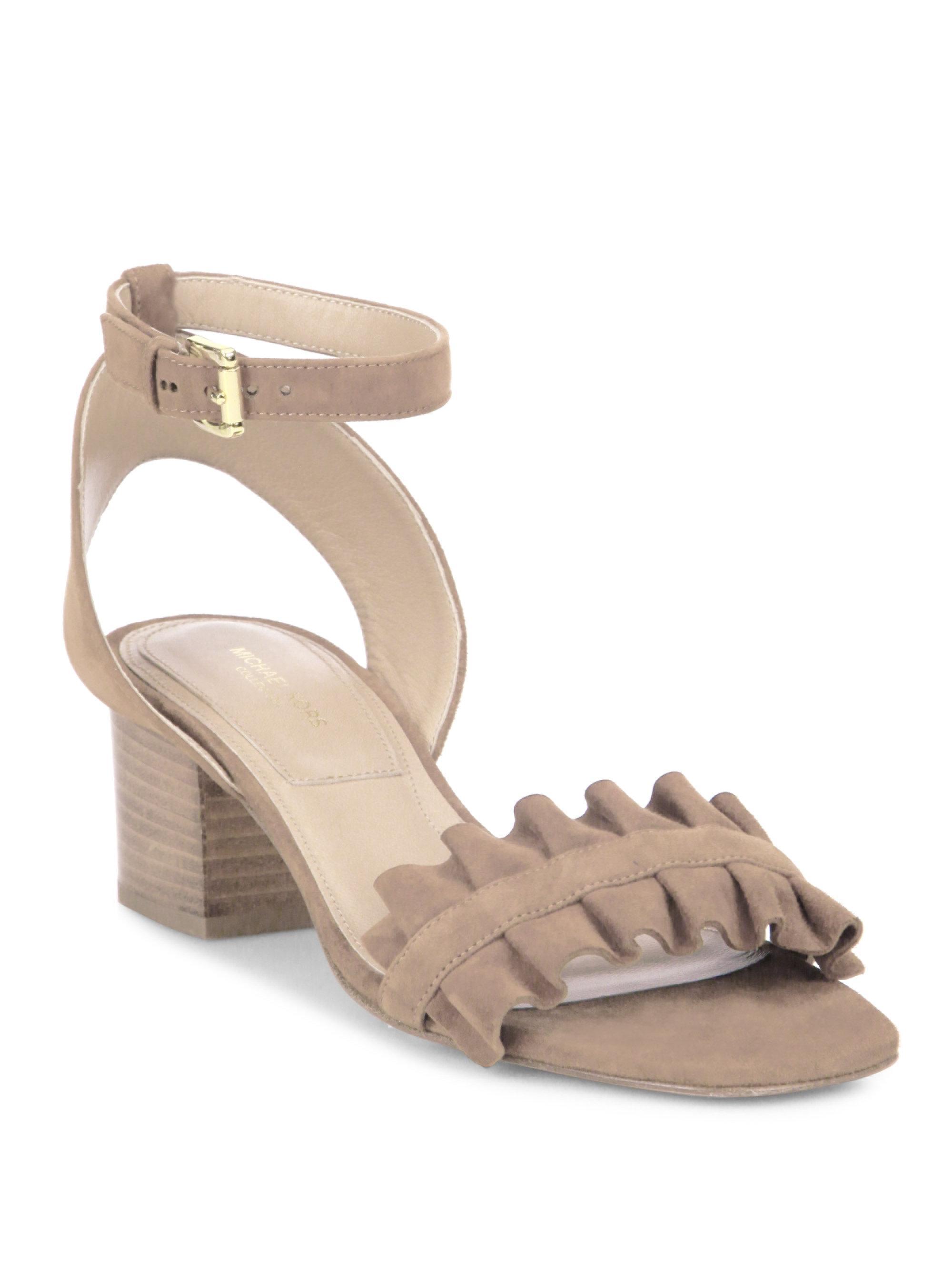 9836fa2a9a95 Michael Kors. Women s Monroe Suede Ankle-strap Sandals