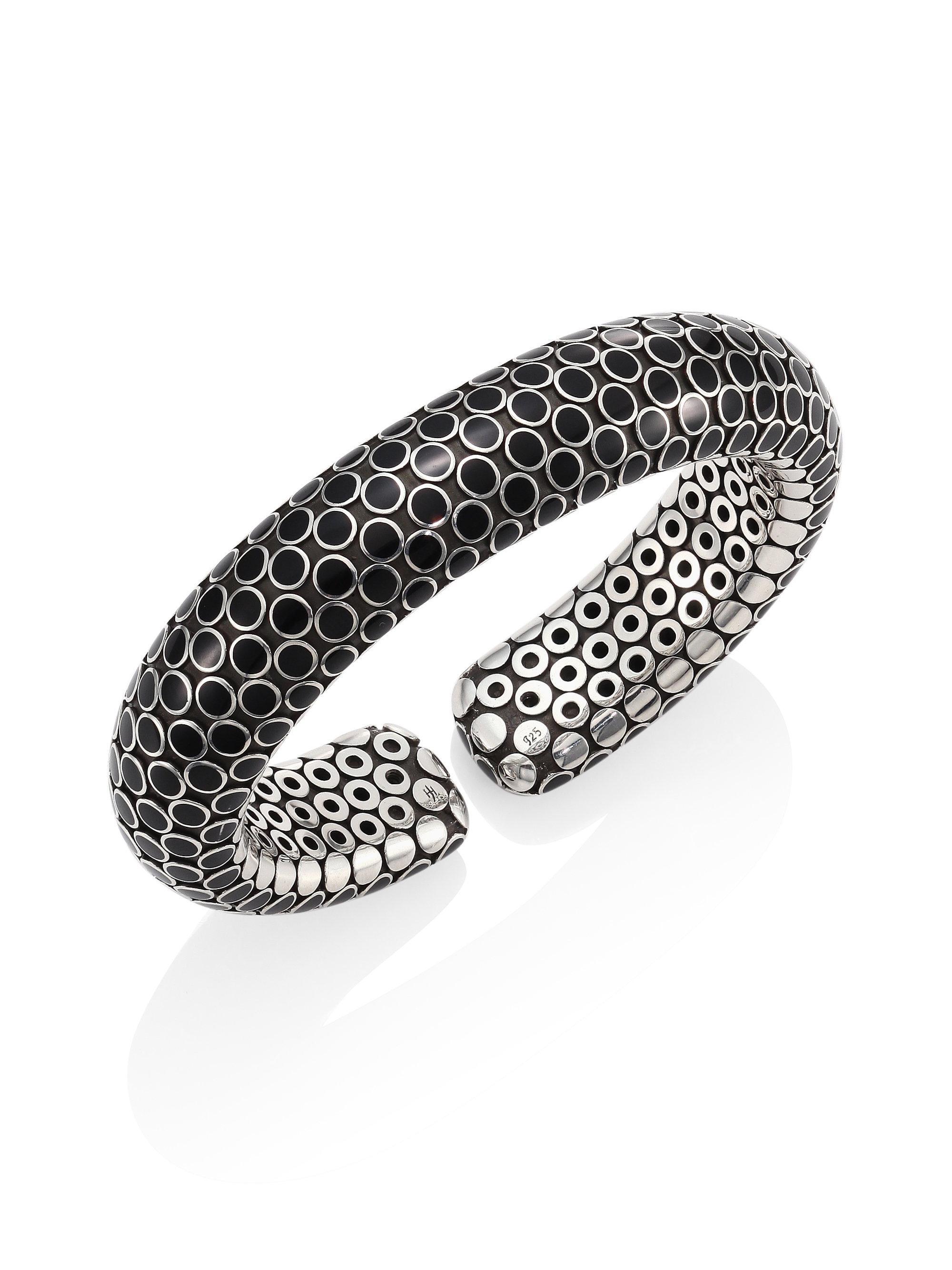 John Hardy Dot Medium Single Line Cuff Bracelet aAoRI0OMdU