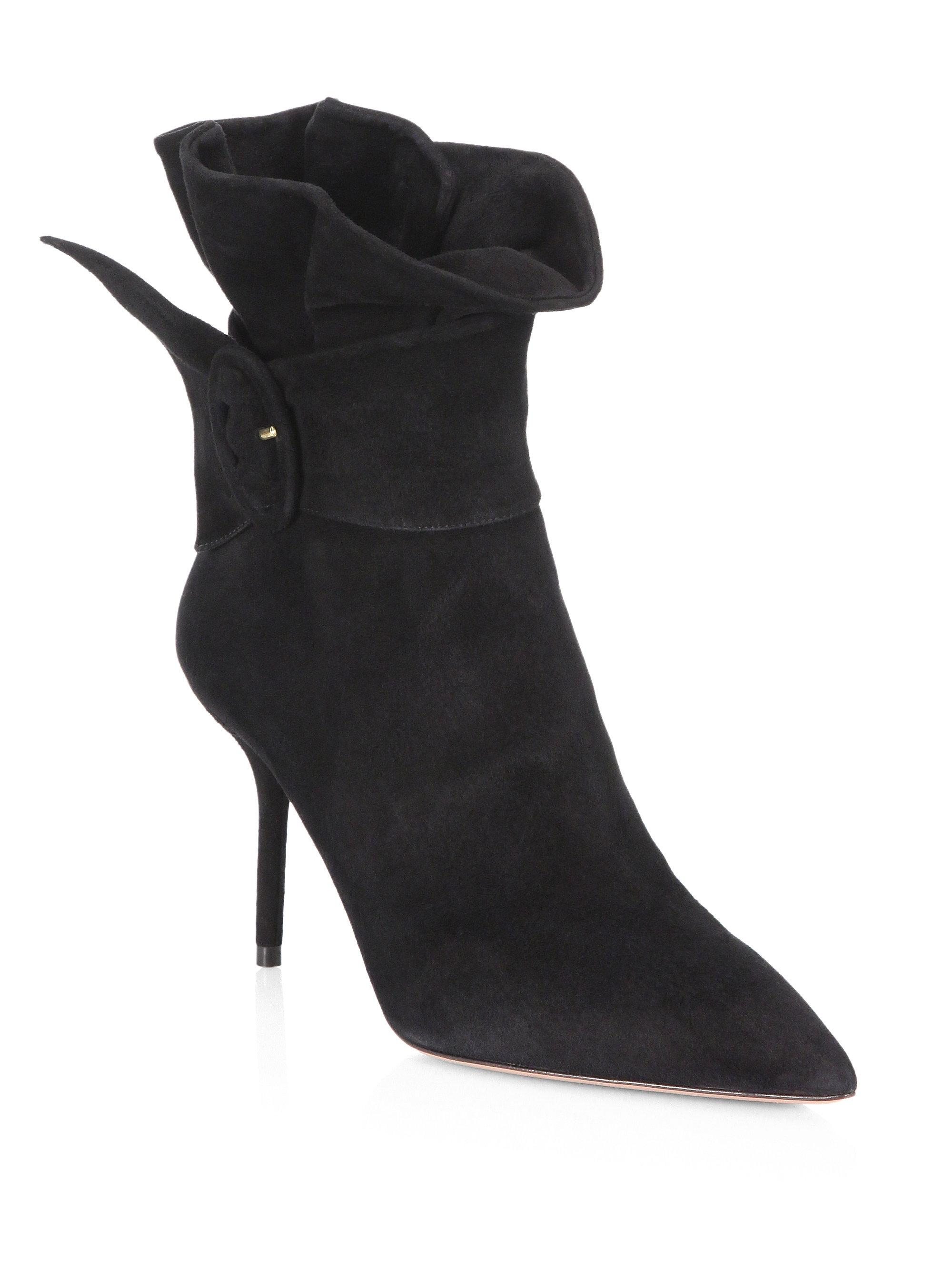 Aquazzura Palace Suede Booties