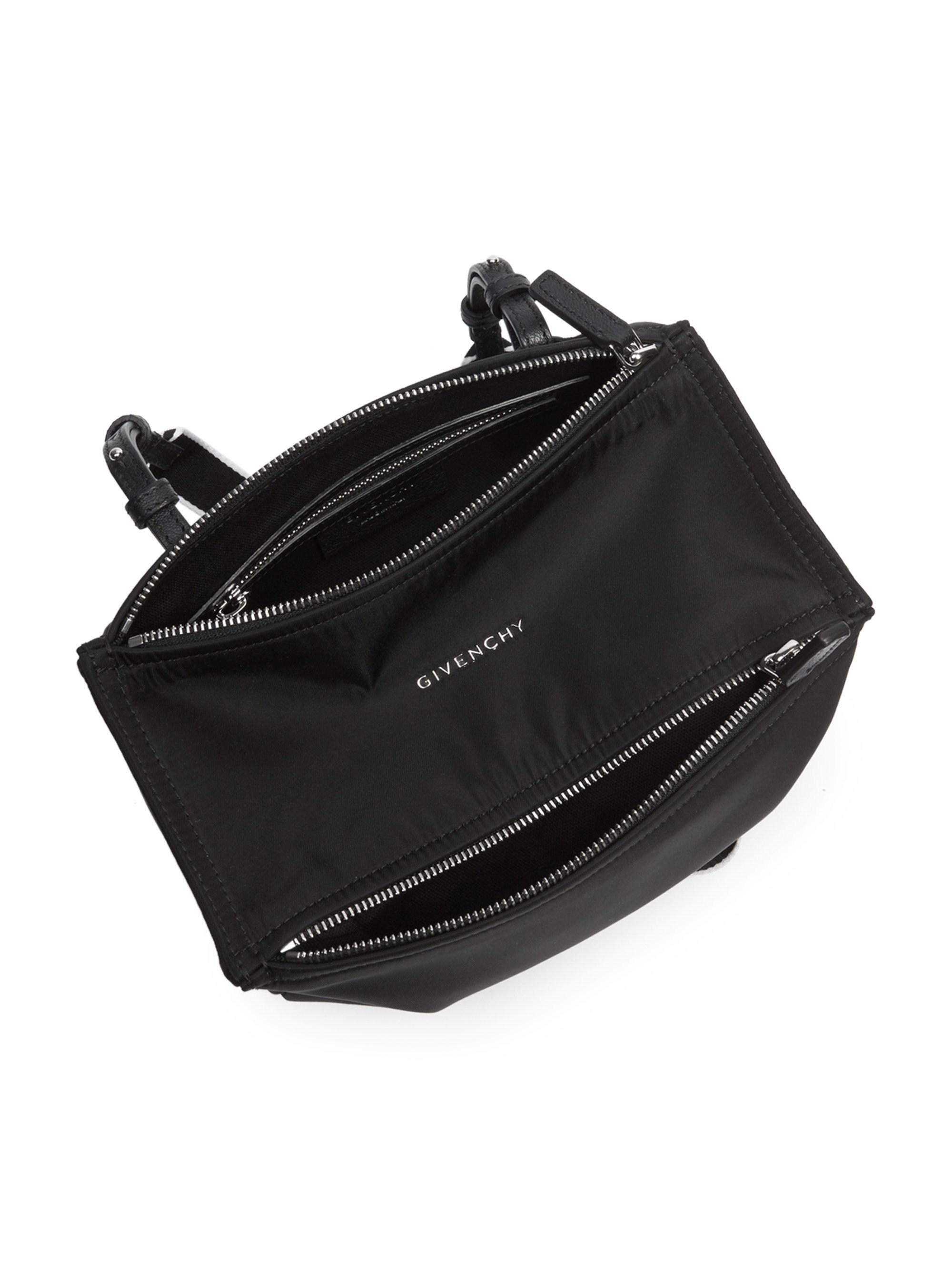 85882c2135 Givenchy Women's Mini Nylon Pandora Bag With Logo Strap - Black in ...