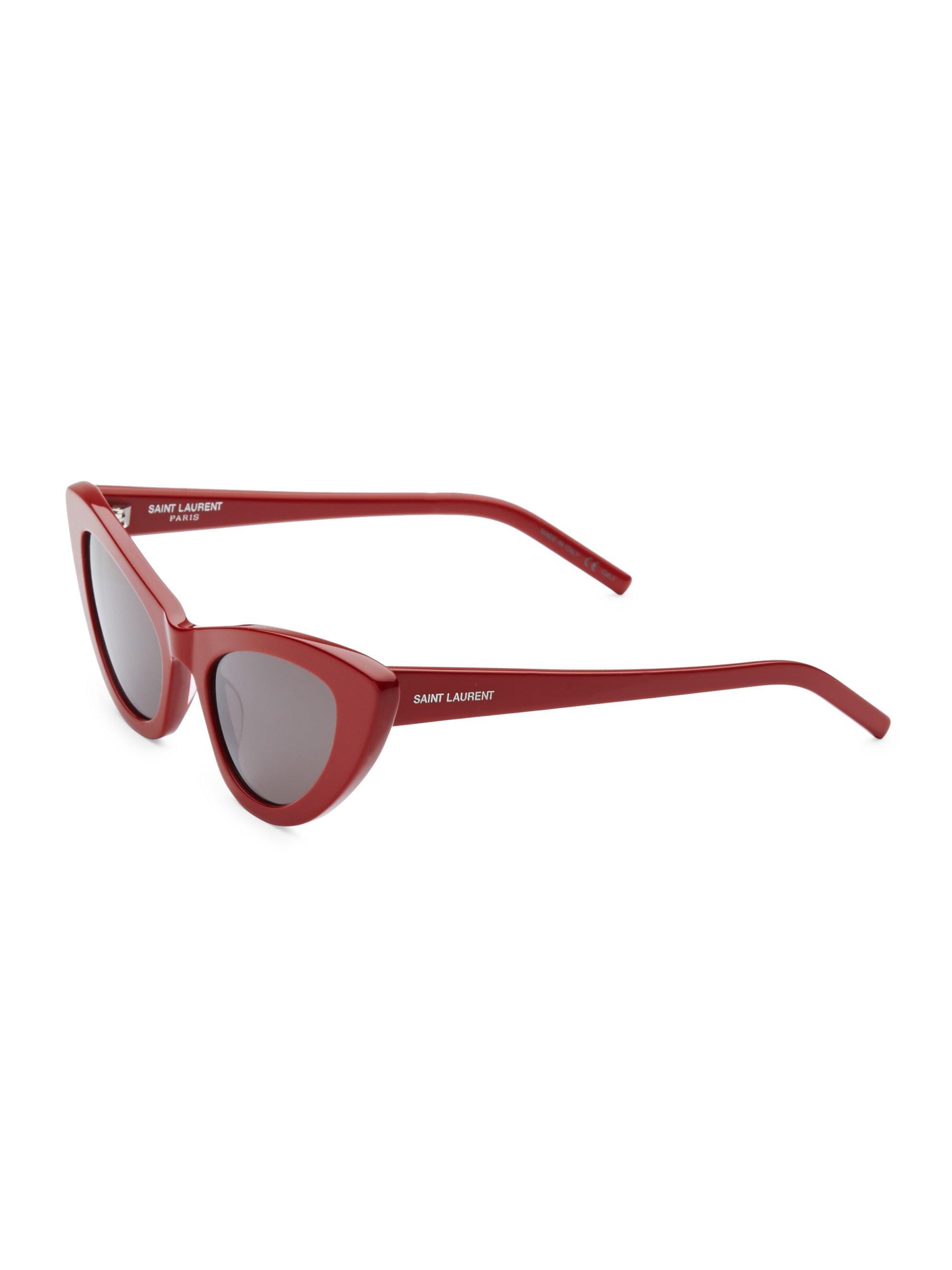 dae6e64c4c Saint Laurent - Women s 52mm Red New Wave 213 Lily Sunglasses - Red - Lyst.  View fullscreen