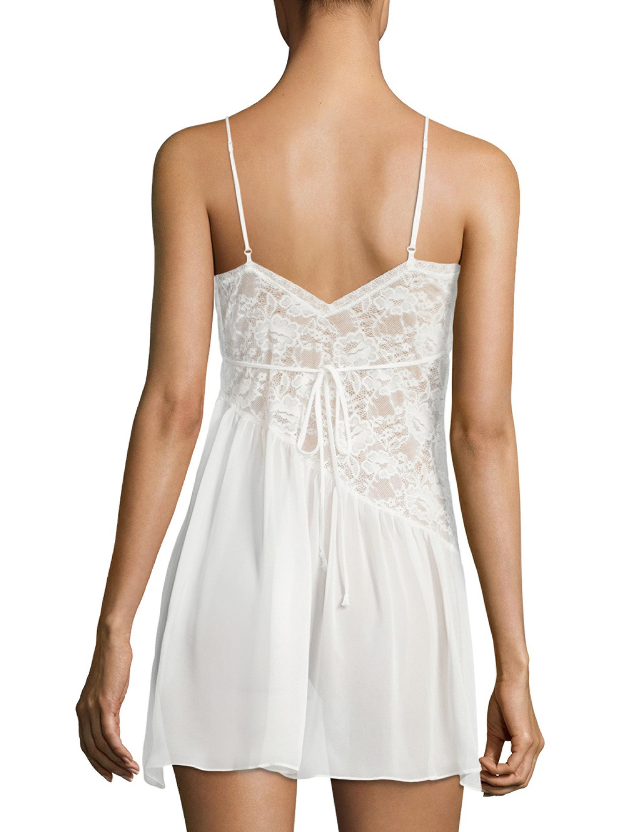 Lyst - Jonquil Daydream Ruffled Chemise in White 3c7d20924