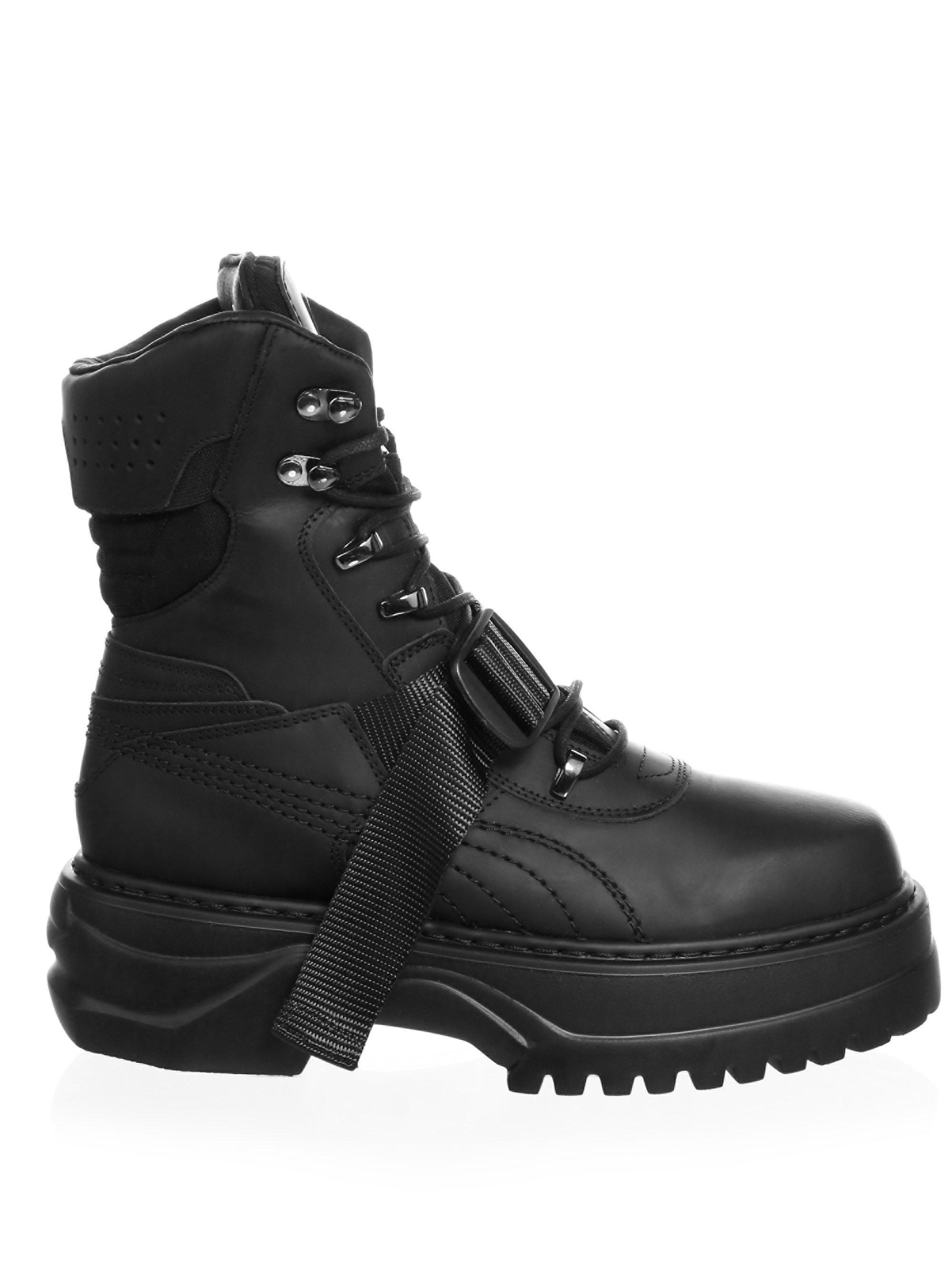 Lyst - PUMA Lace-up Leather Winter Boots in Black for Men 2df6108e2
