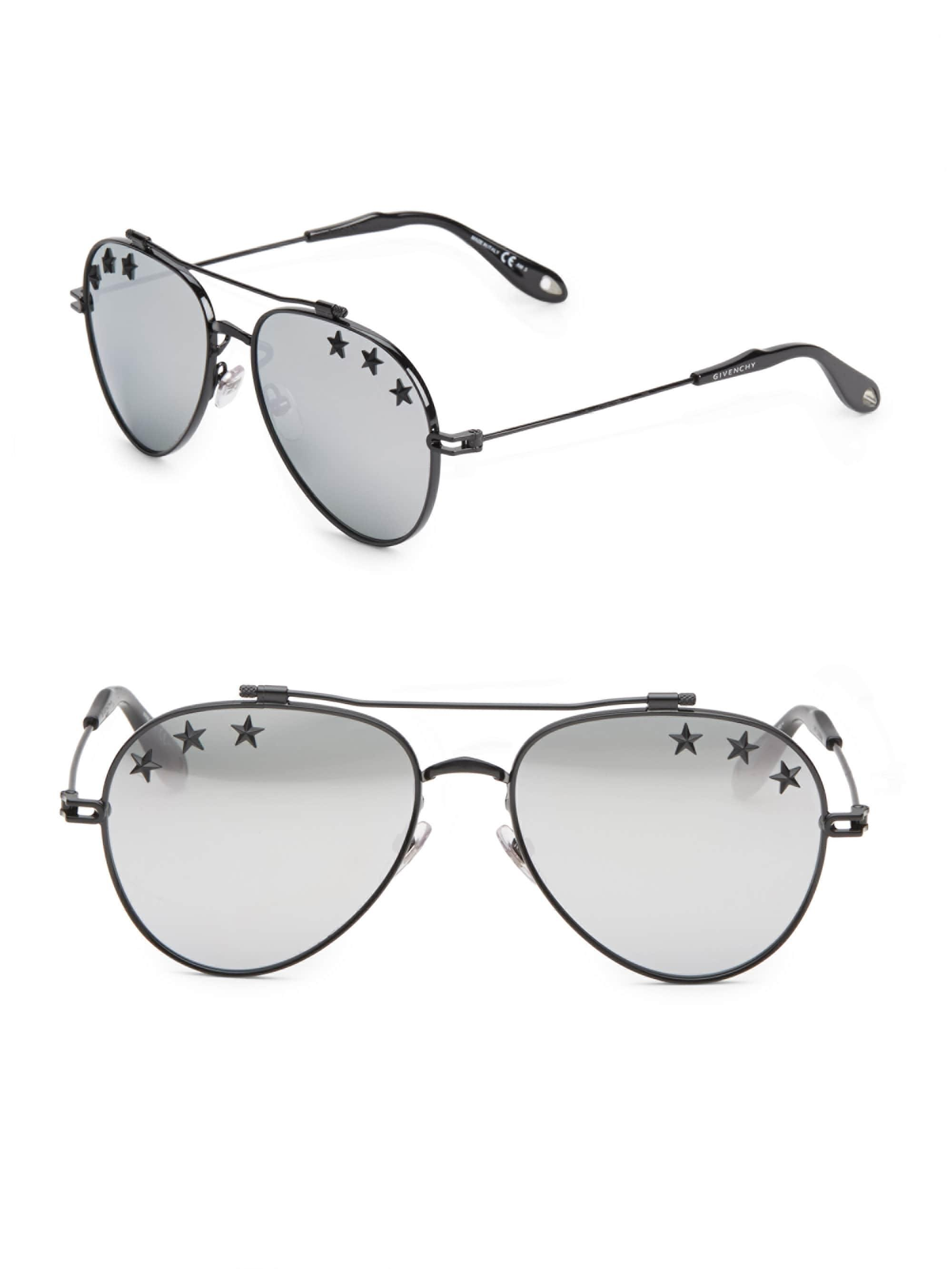 8bccf99051908 Lyst - Givenchy 58mm Star Aviator Sunglasses in Metallic for Men