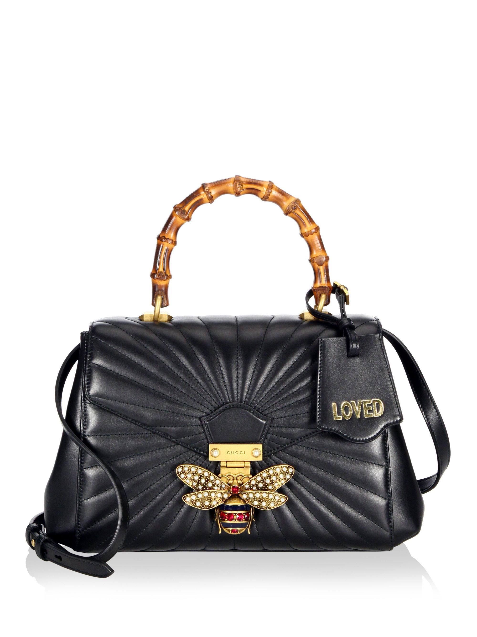 5f4282d3089b Gucci Queen Margaret Quilted Leather Top Handle Bag in Black - Lyst