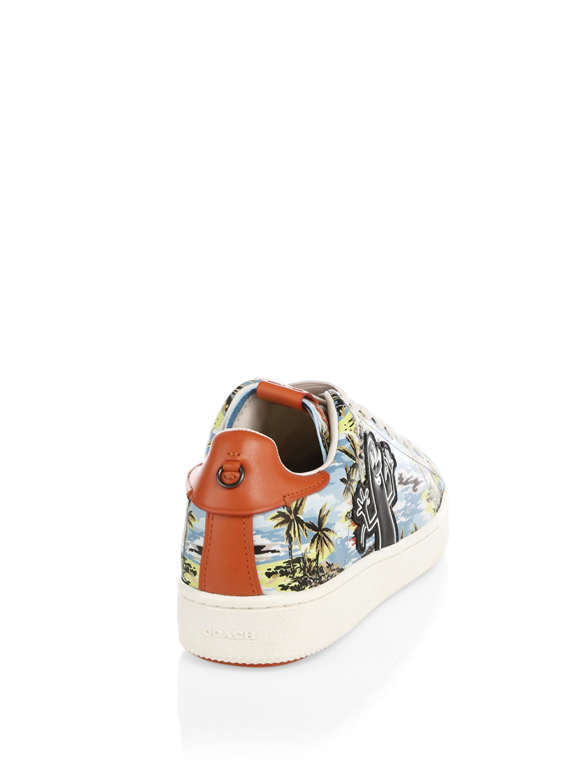 e124c3b4cd02 Lyst - COACH X Keith Haring Leather Hawaiian Low-top Sneakers