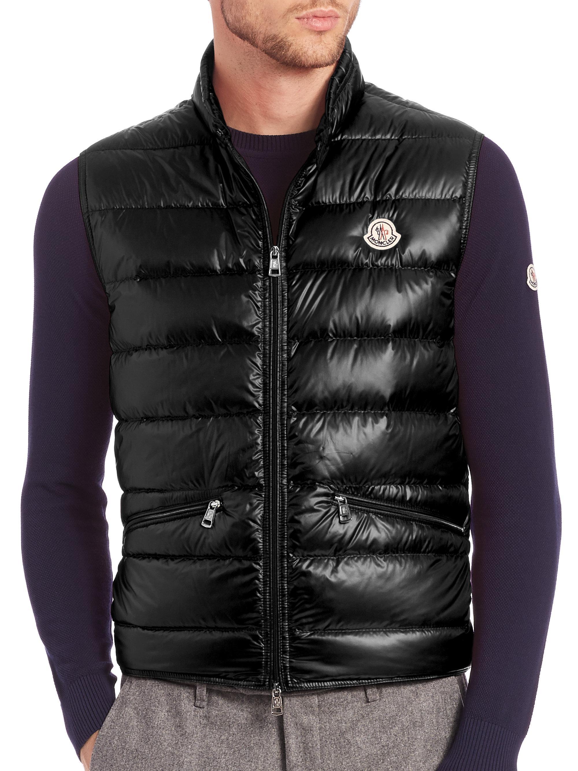 Lyst Moncler Gui Puffer Vest In Black For Men