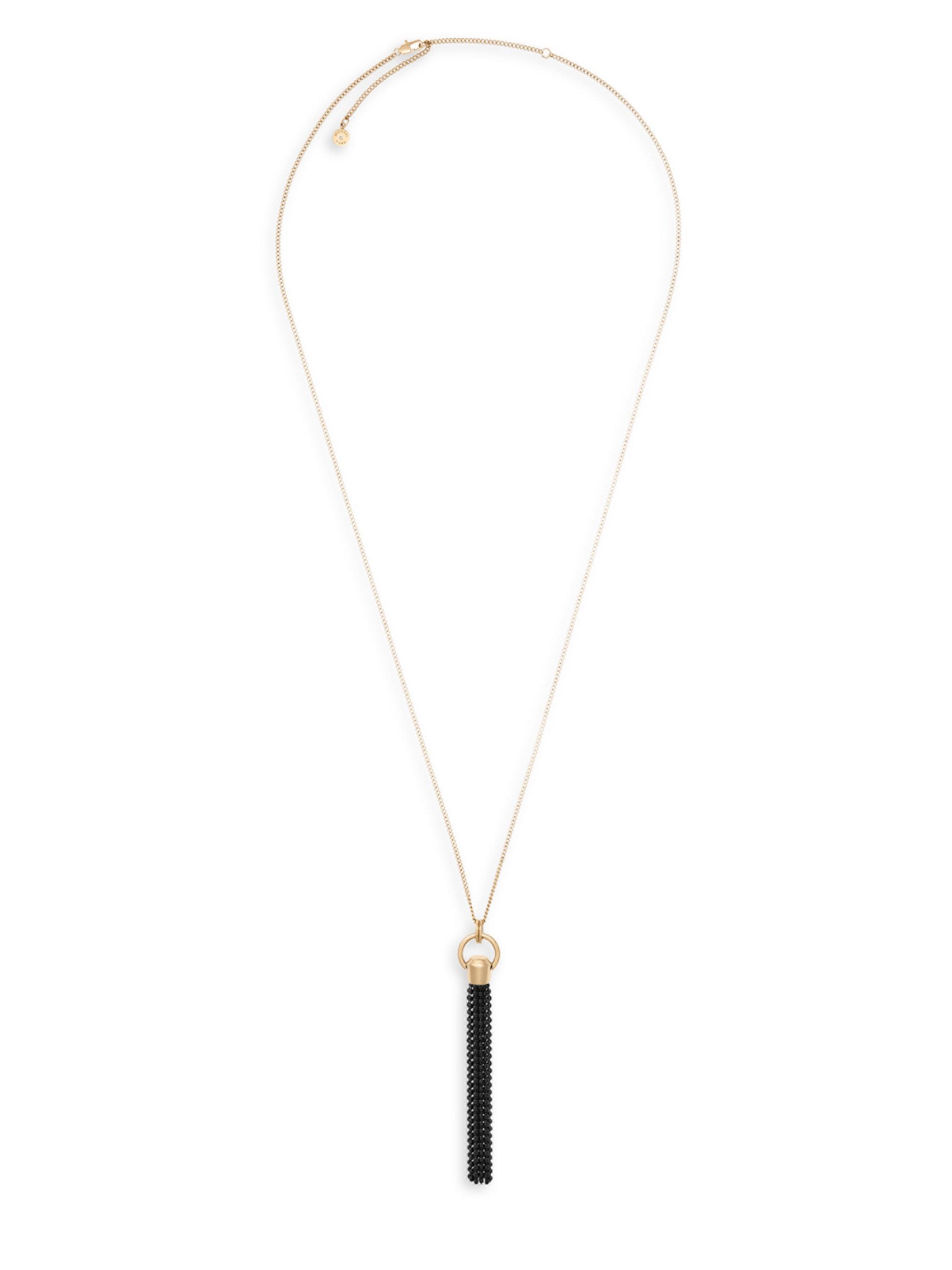 c55757378358c Lyst - Michael Kors Cool   Classic Chain Tassel Necklace in Metallic