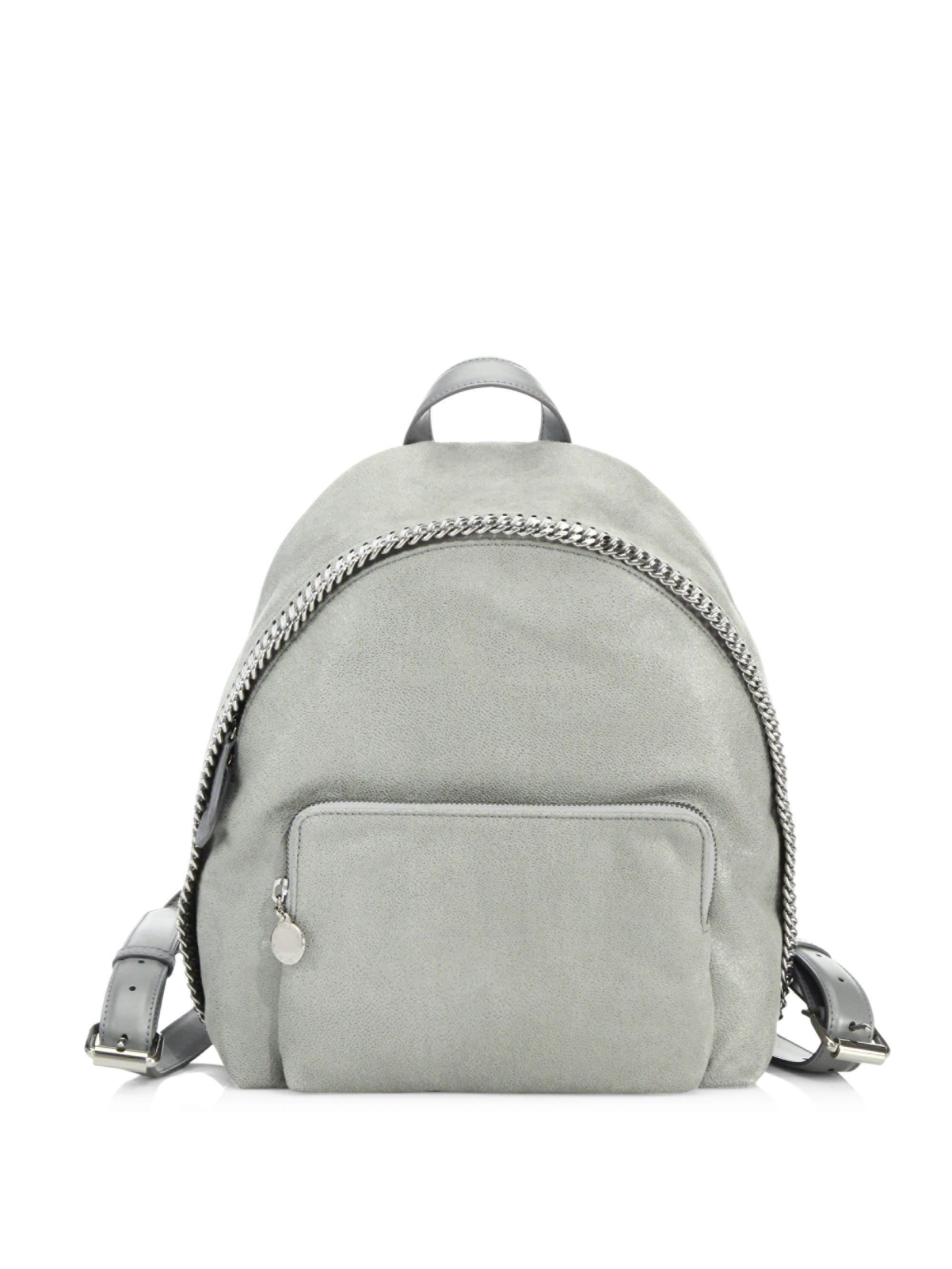 523ebf85a993 Stella McCartney. Gray Women s Falabella Small Faux Leather Backpack ...