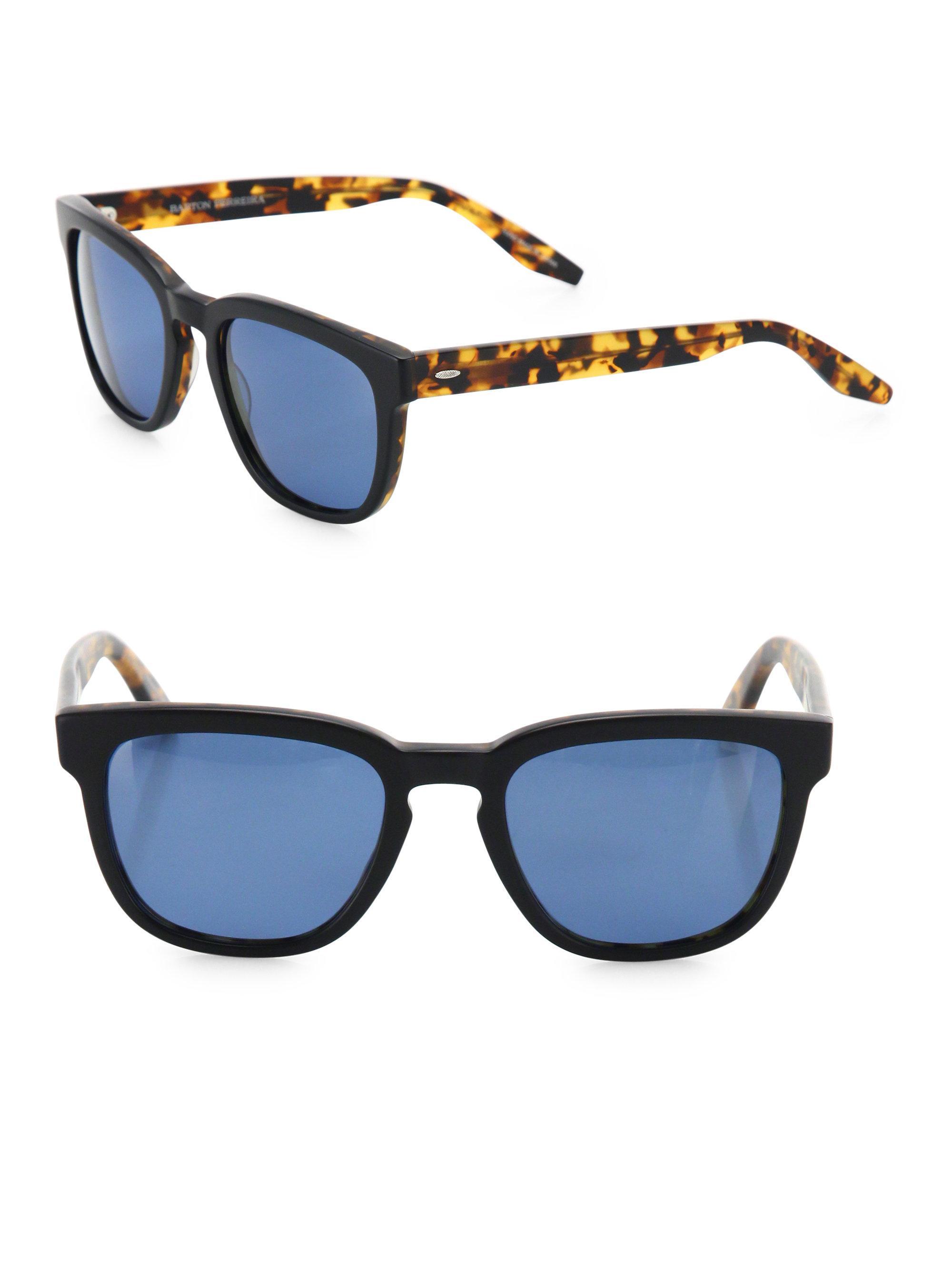 d98426c2885 Barton Perreira Coltrane 54mm Square Sunglasses for Men - Lyst