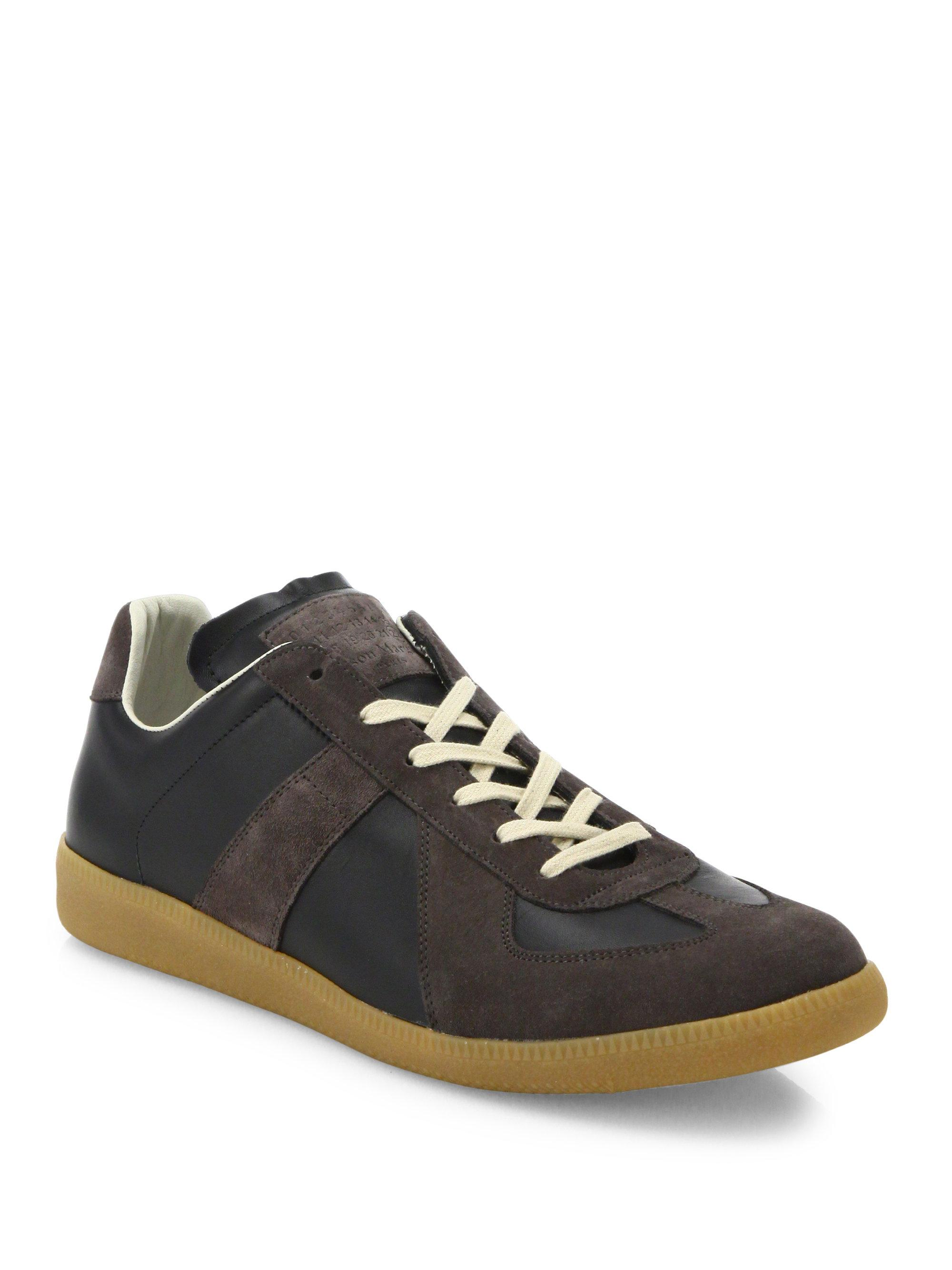 Maison MargielaReplica Suede Lace-Up Sneakers