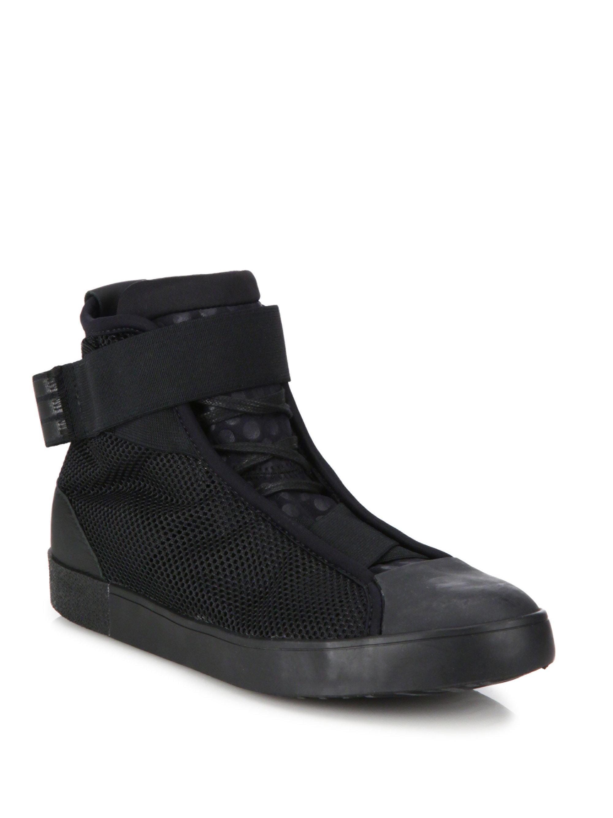 8d04e3c8242c6 Lyst - Y-3 Loop Court High-top Sneakers in Black for Men