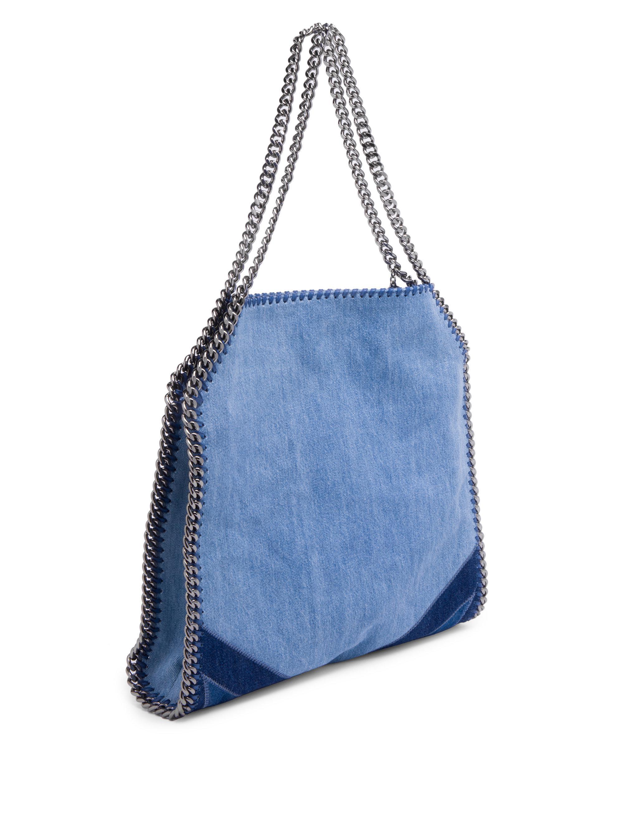 Lyst - Stella McCartney Stars Denim Shoulder Bag in Blue ecc5851187dd8