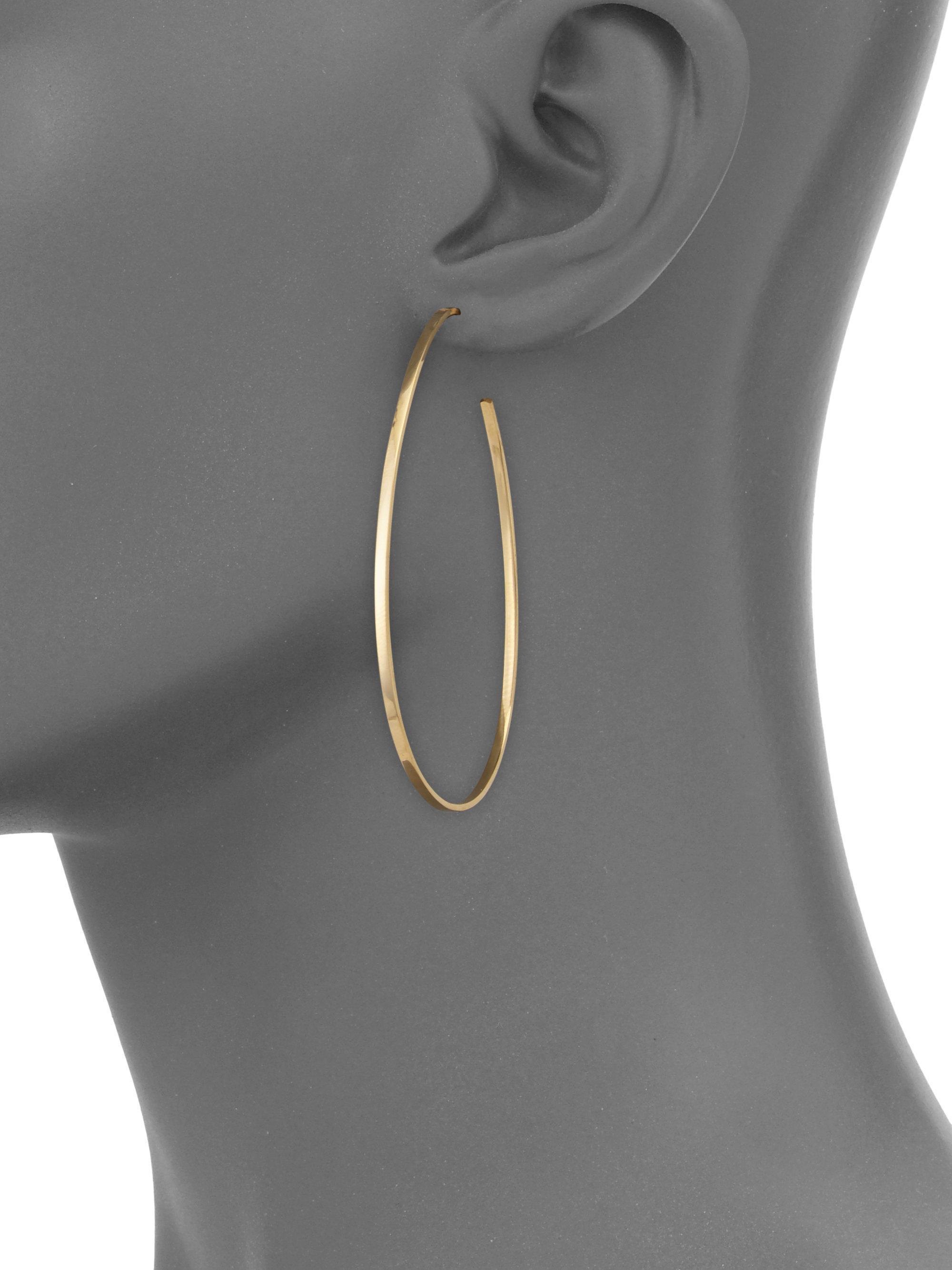 Lana Jewelry Bond Small Tear Hoop Earrings dBgIrEcDLt
