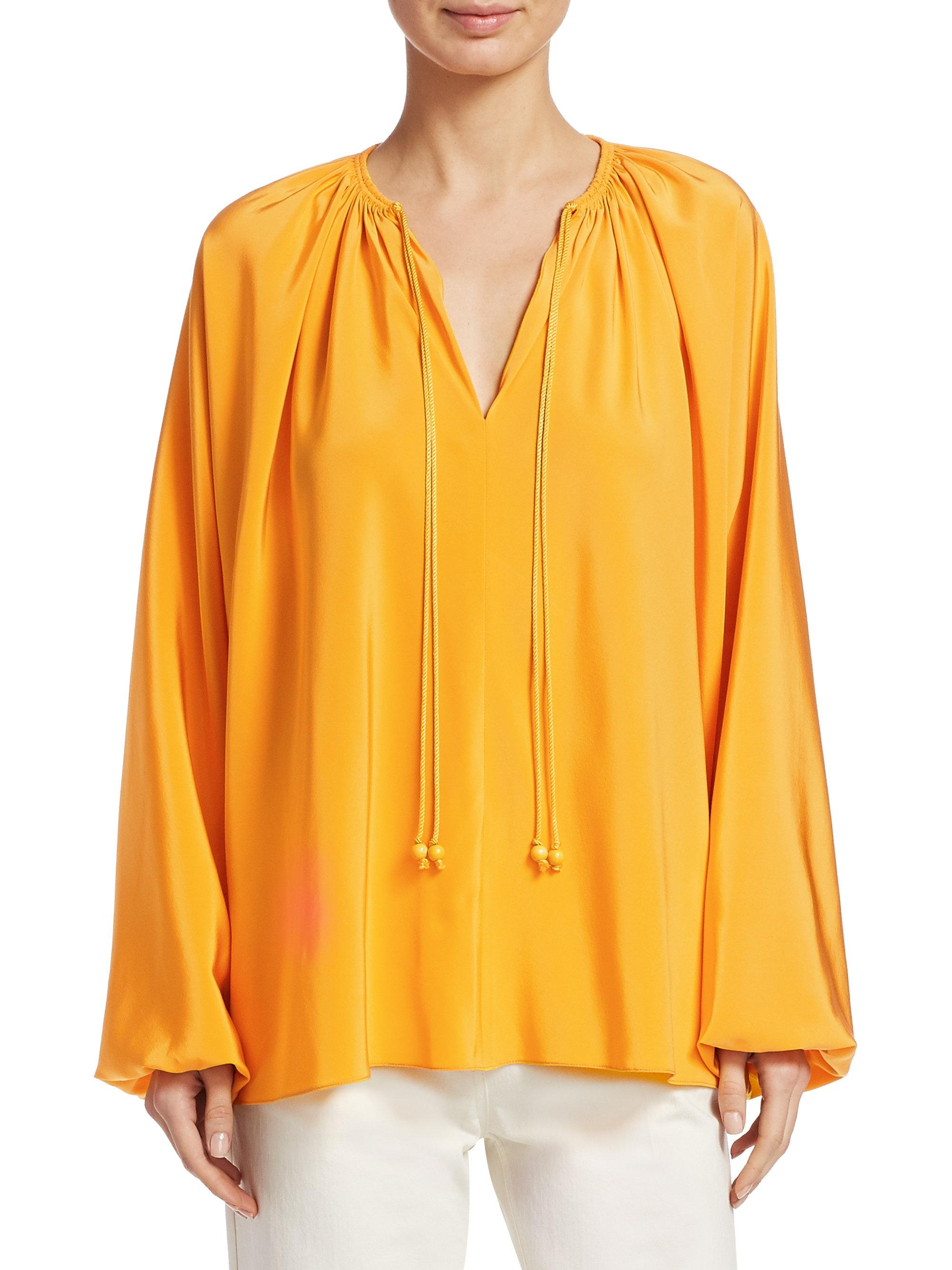 f61fc256d996c3 Elizabeth and James Chance Rope Blouse in Yellow - Lyst