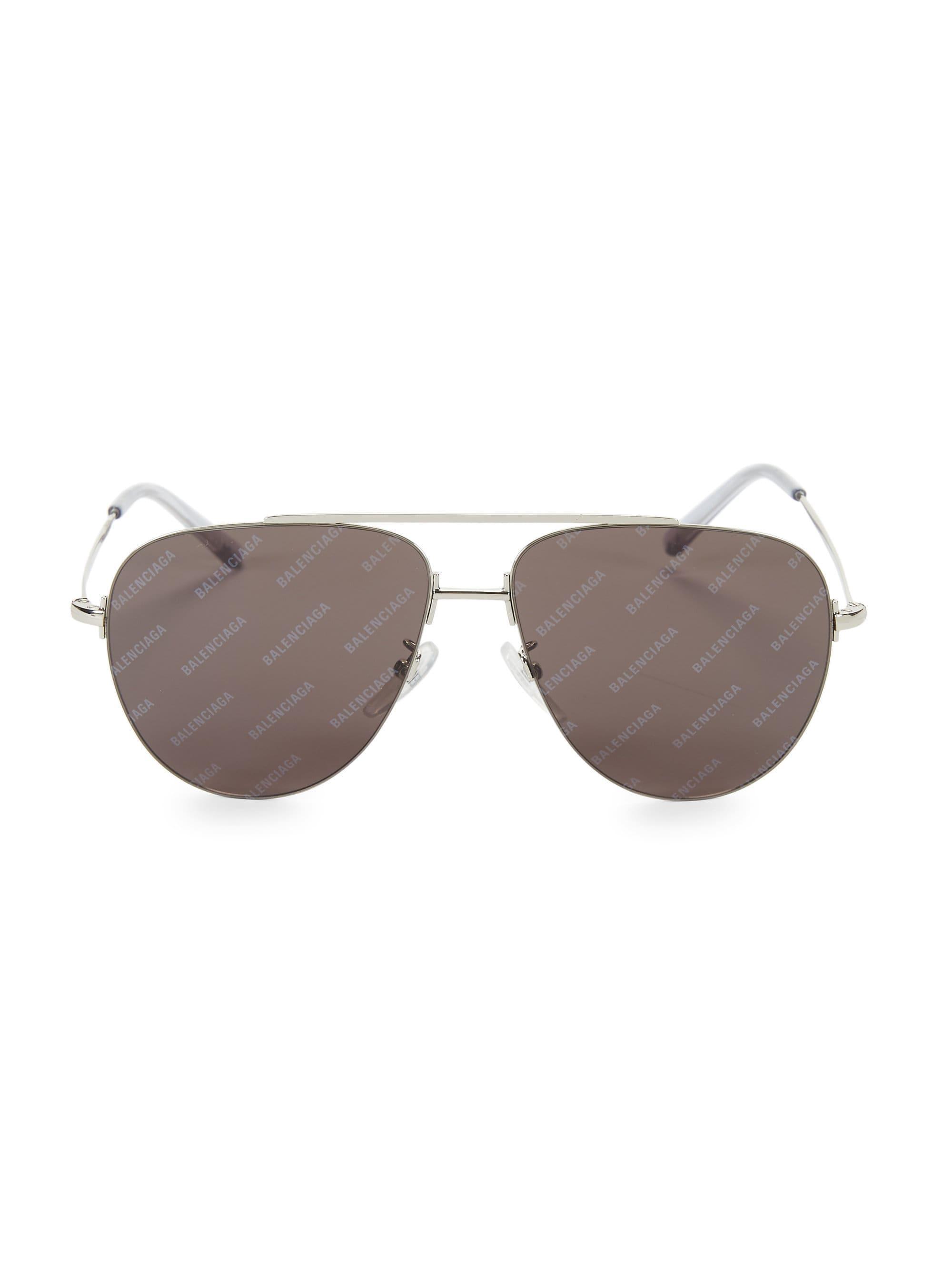 d6a9d9865fcf Balenciaga - Metallic Men's 59mm Unisex Classic Aviator Sunglasses - Silver  for Men - Lyst. View fullscreen