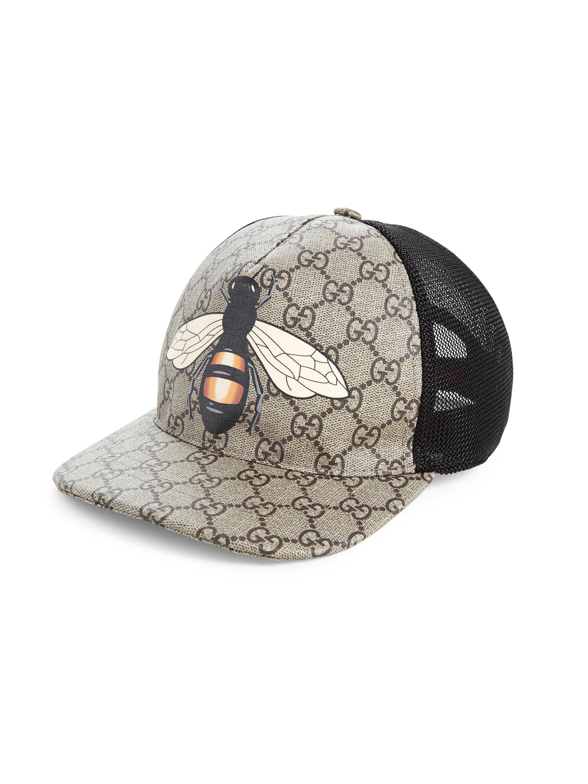 63b845d4daa37f Lyst - Gucci Bee Baseball Cap in Natural for Men