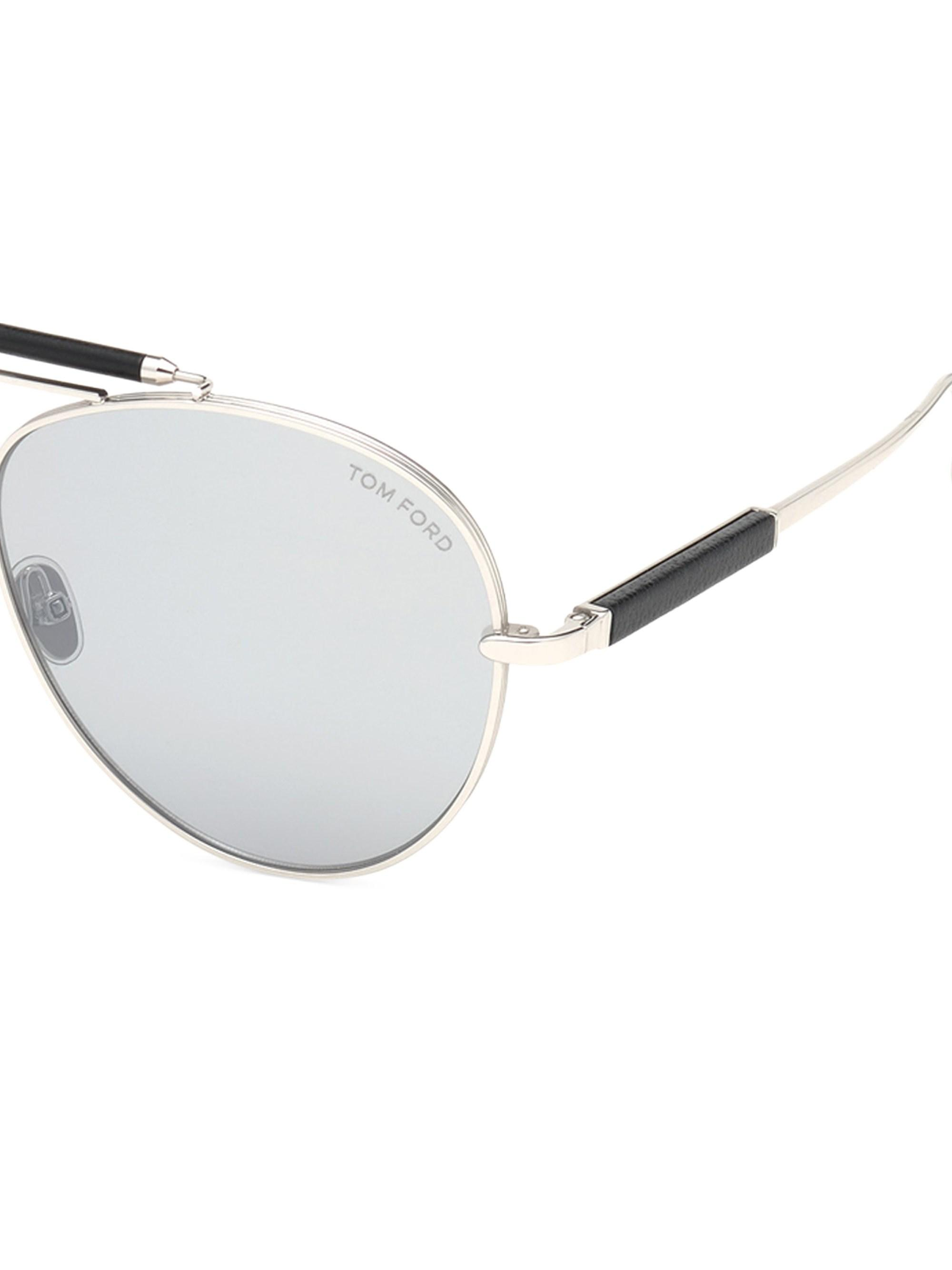 b34612a3e303c Tom Ford Men s Metal Aviator Sunglasses With Mirrored Photochromic ...