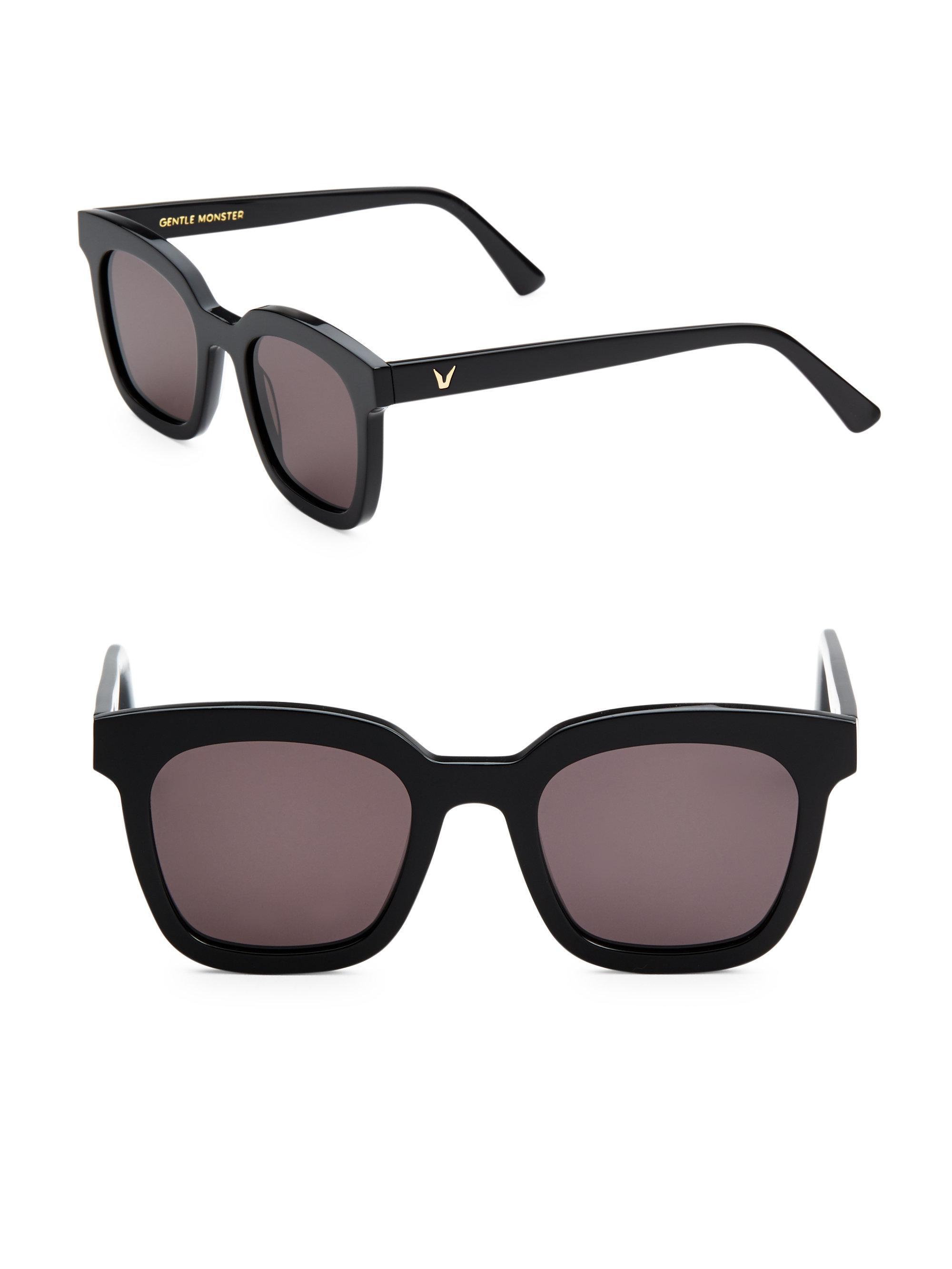 115427baba91 Lyst - Gentle Monster 48mm Finn Wayfarer Sunglasses in Black
