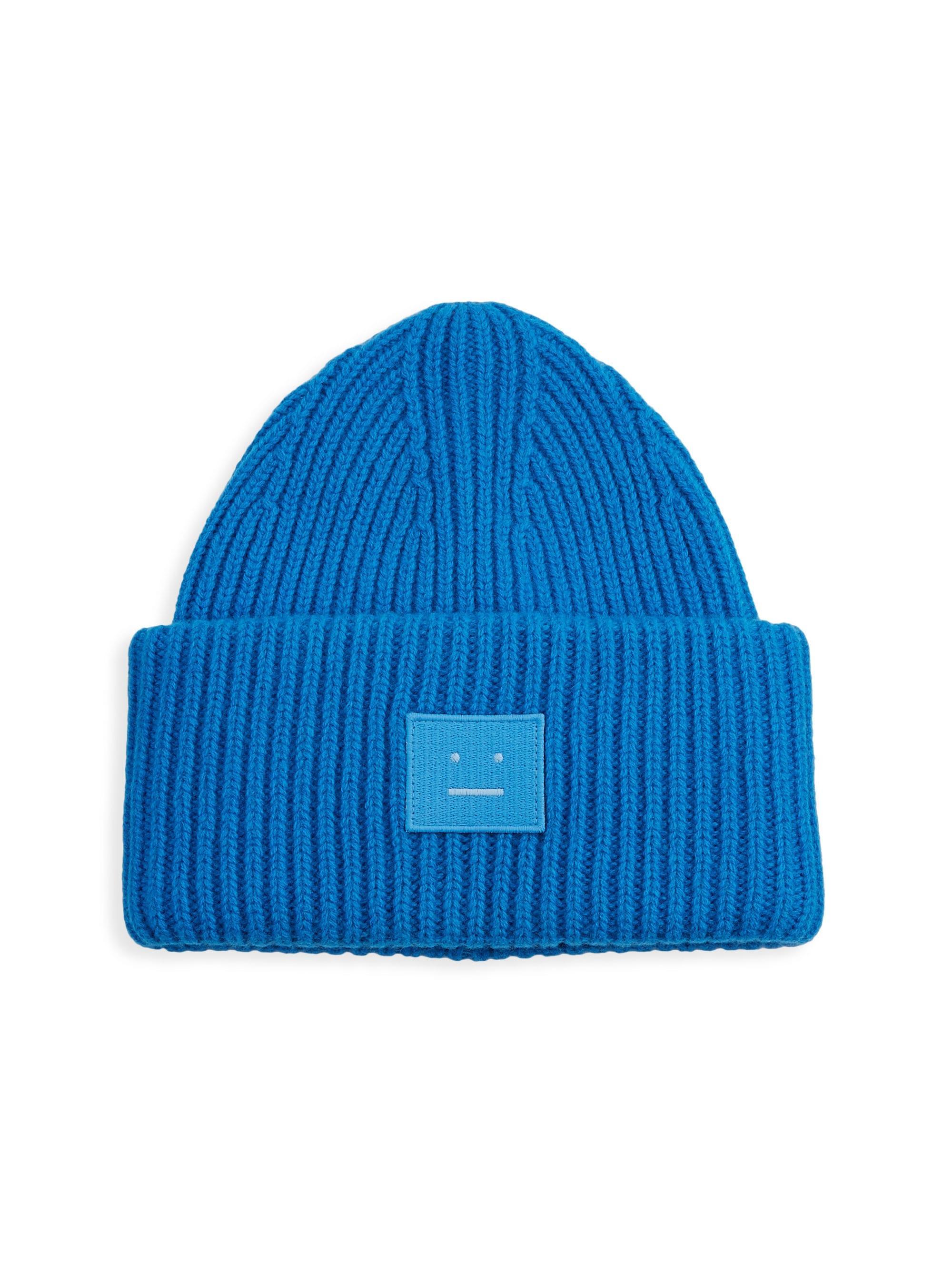 dfe4327d8fd462 Lyst - Acne Studios Men's Pansy N Face Wool-blend Beanie - Charcoal ...