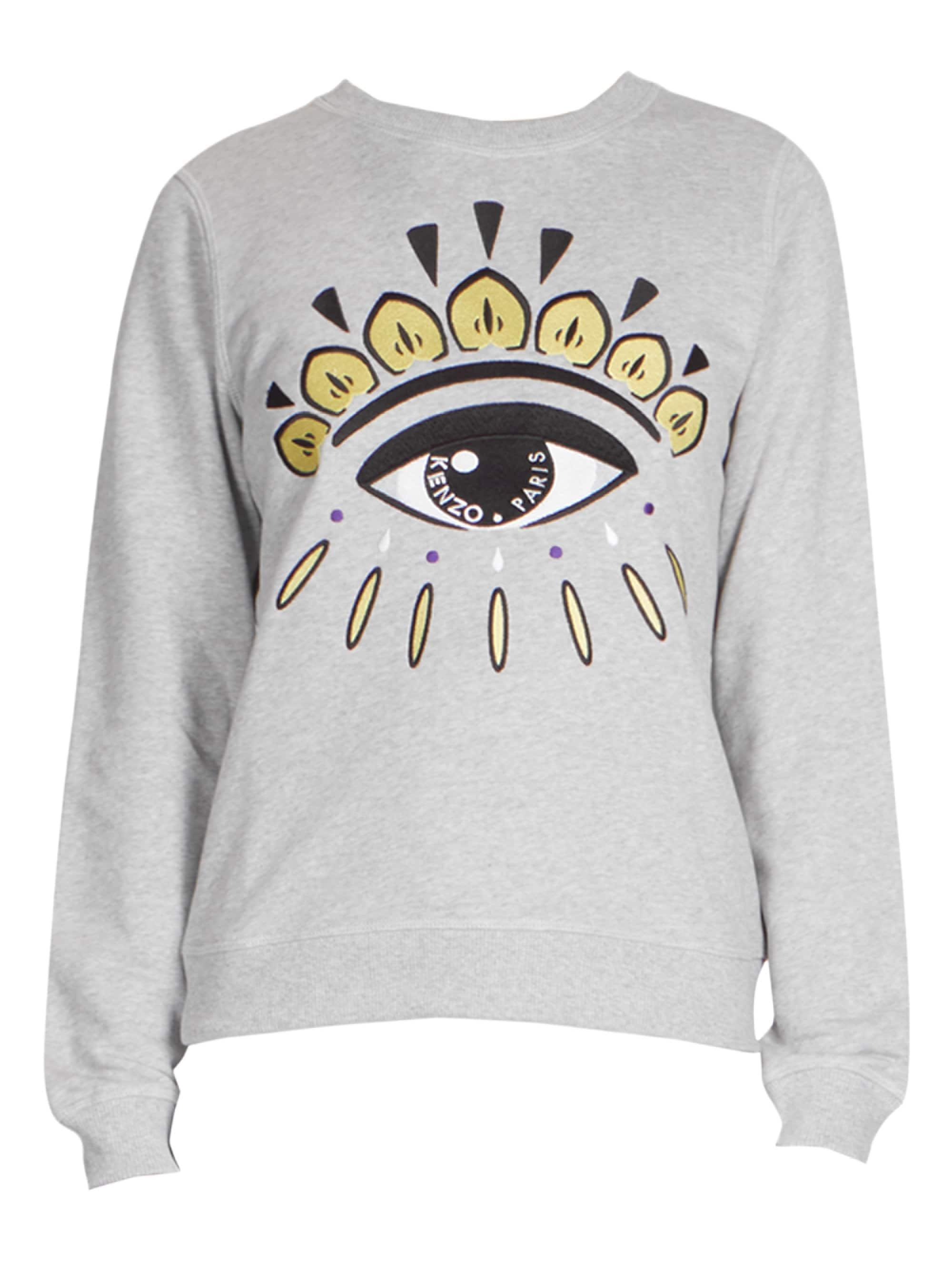 a417d5314 KENZO Eye Graphic Sweatshirt in Gray - Lyst