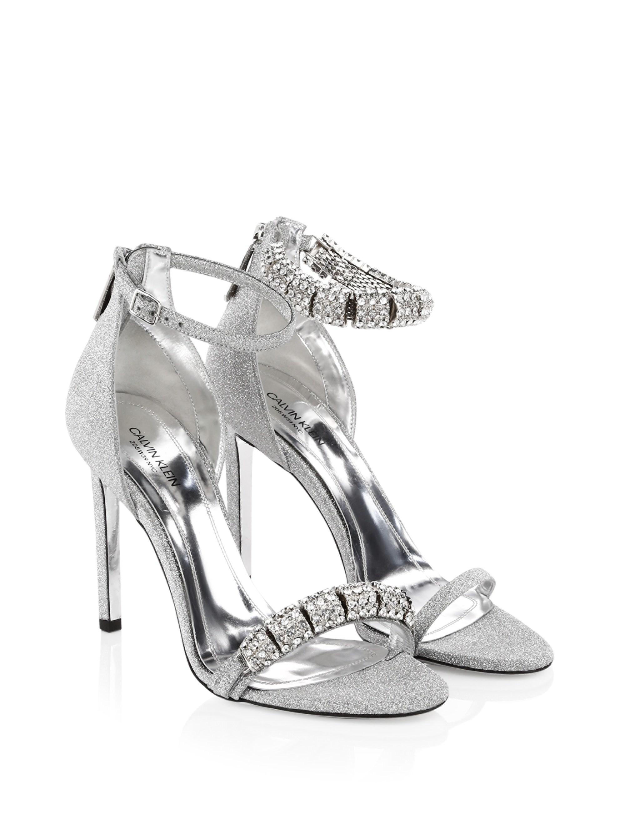 Calvin KleinCamelle Swarovski Crystal Stiletto Sandals dwho4cWr