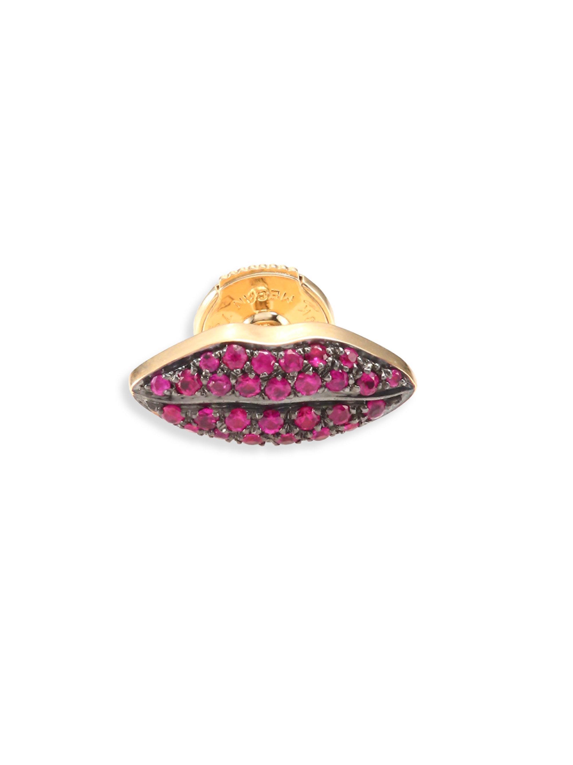 Delfina Delettrez Ruby & yellow-gold single earring wvPJcr