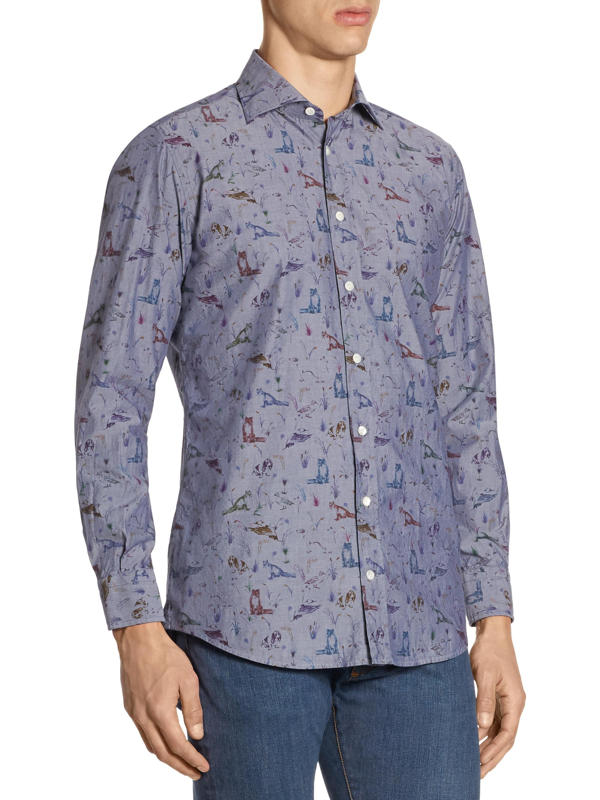 091ae6727b4d Animal Print Button Down Shirt - BCD Tofu House