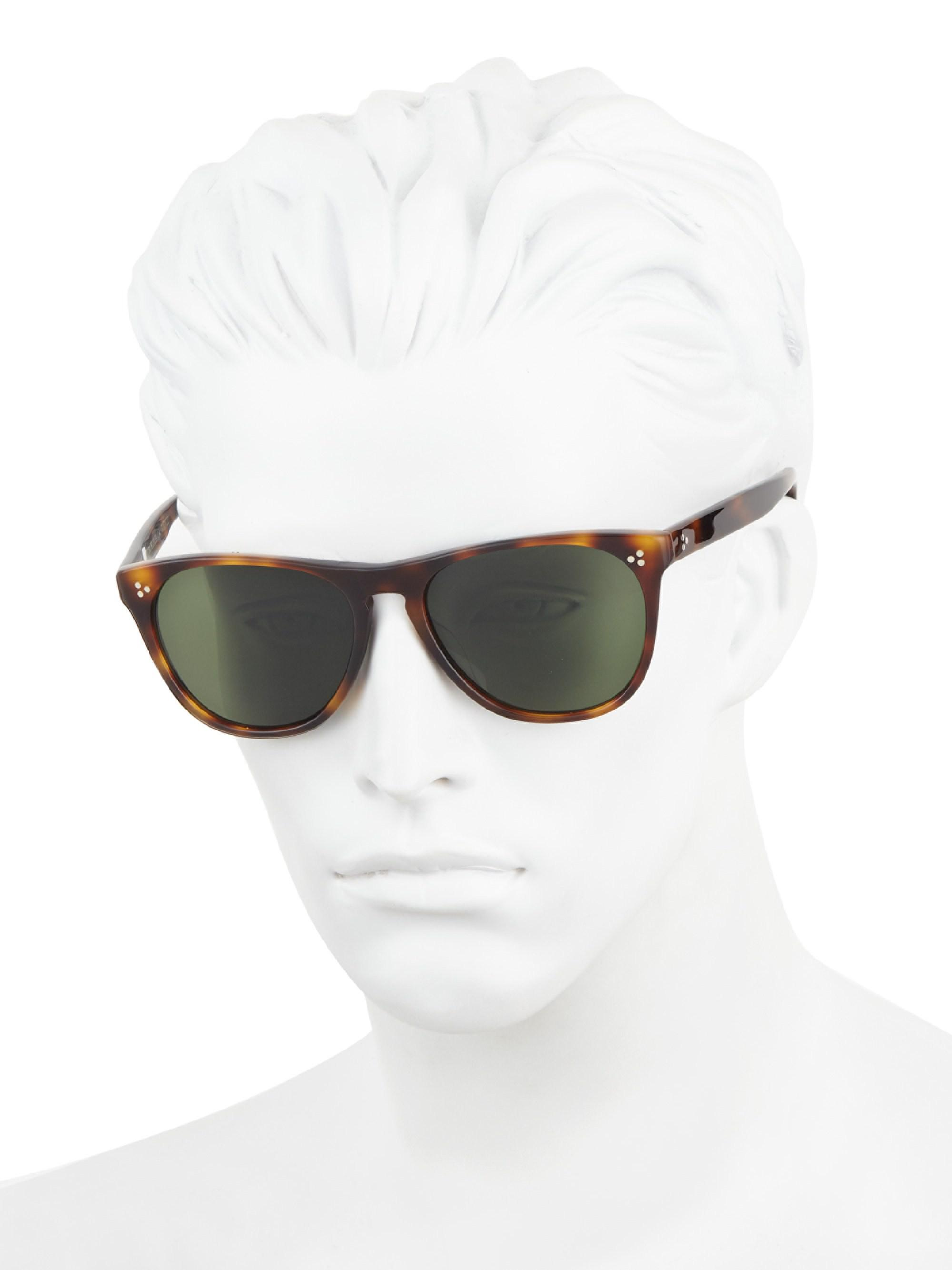 02d0da1b3f Oliver Peoples - Brown Daddy B. Square Sunglasses for Men - Lyst. View  fullscreen
