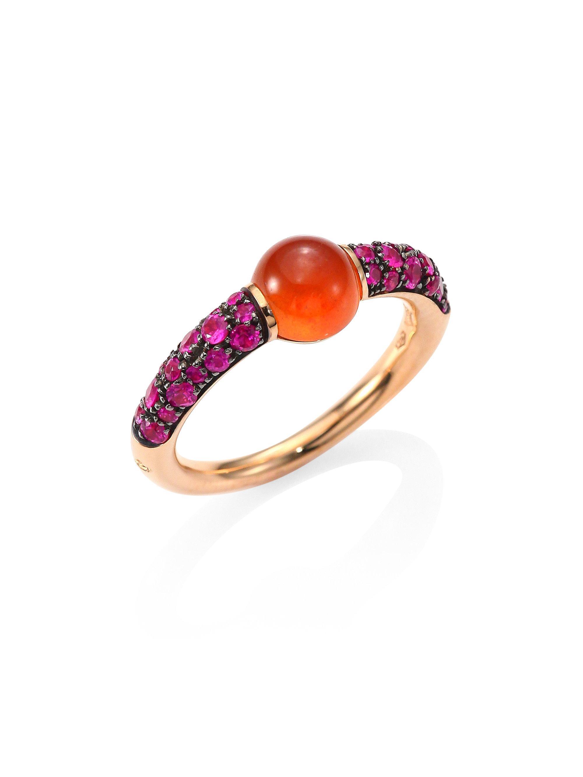 POMELLATO Mama Non Mama 18-karat Rose Gold, Diamond And Amethyst Ring