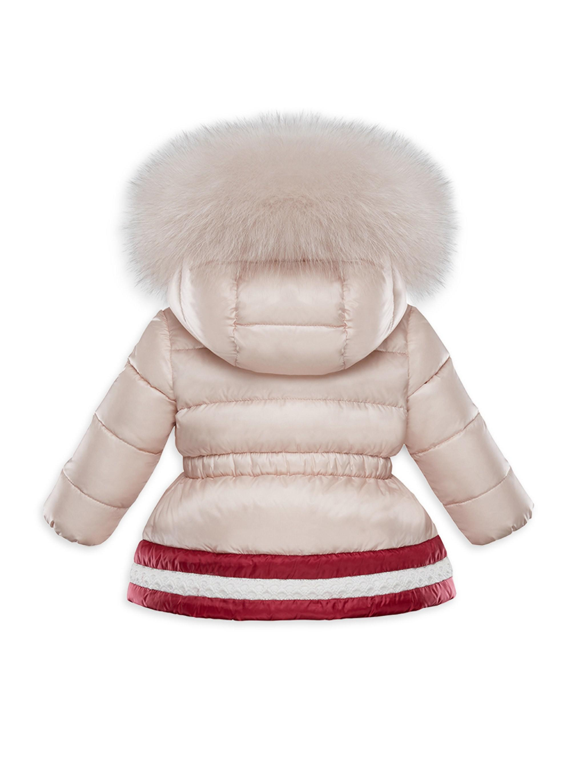 ba658a8b4 Moncler Baby Girl s   Little Girl s Fox Fur-trimmed Puffer Jacket - Lyst
