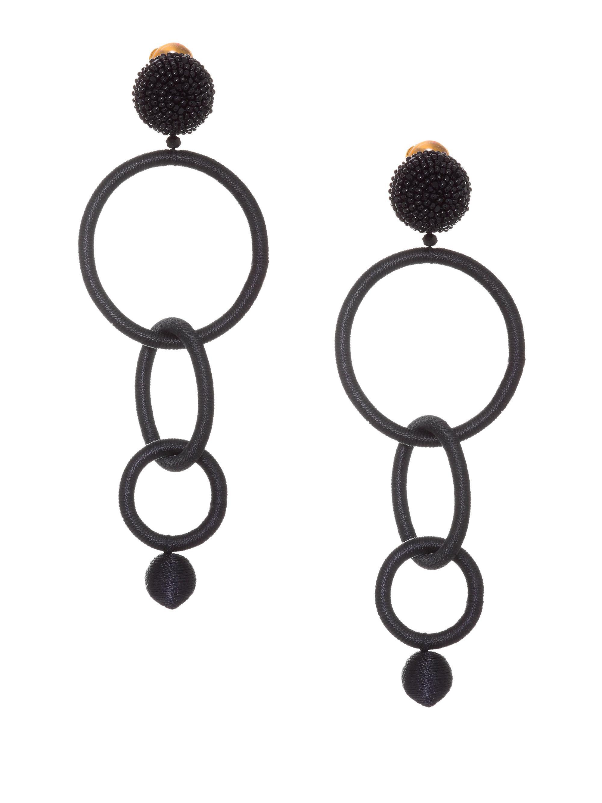 Oscar De La Renta triple-hoop earrings - White mj95Qe0