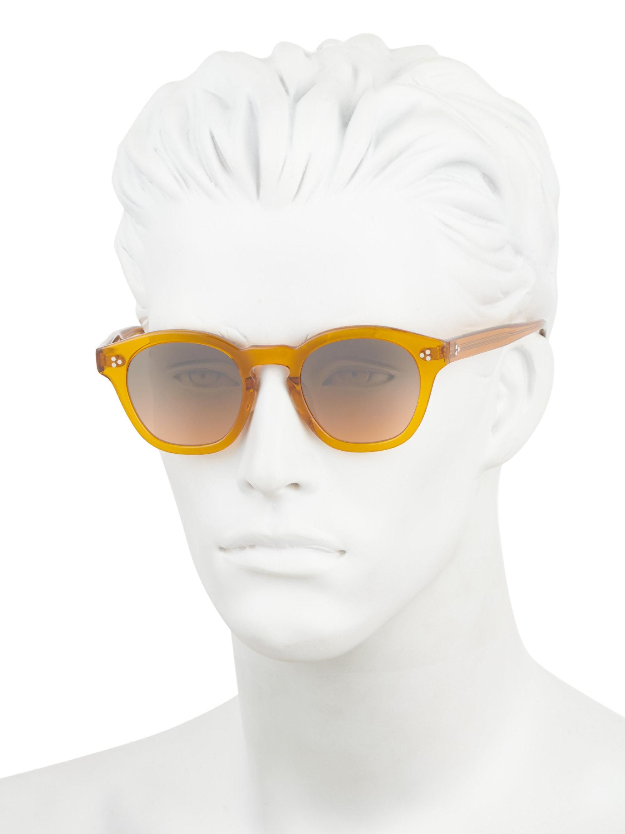 d69ab01c822f Oliver Peoples - Orange Boudreau La 48mm Square Sunglasses for Men - Lyst.  View fullscreen