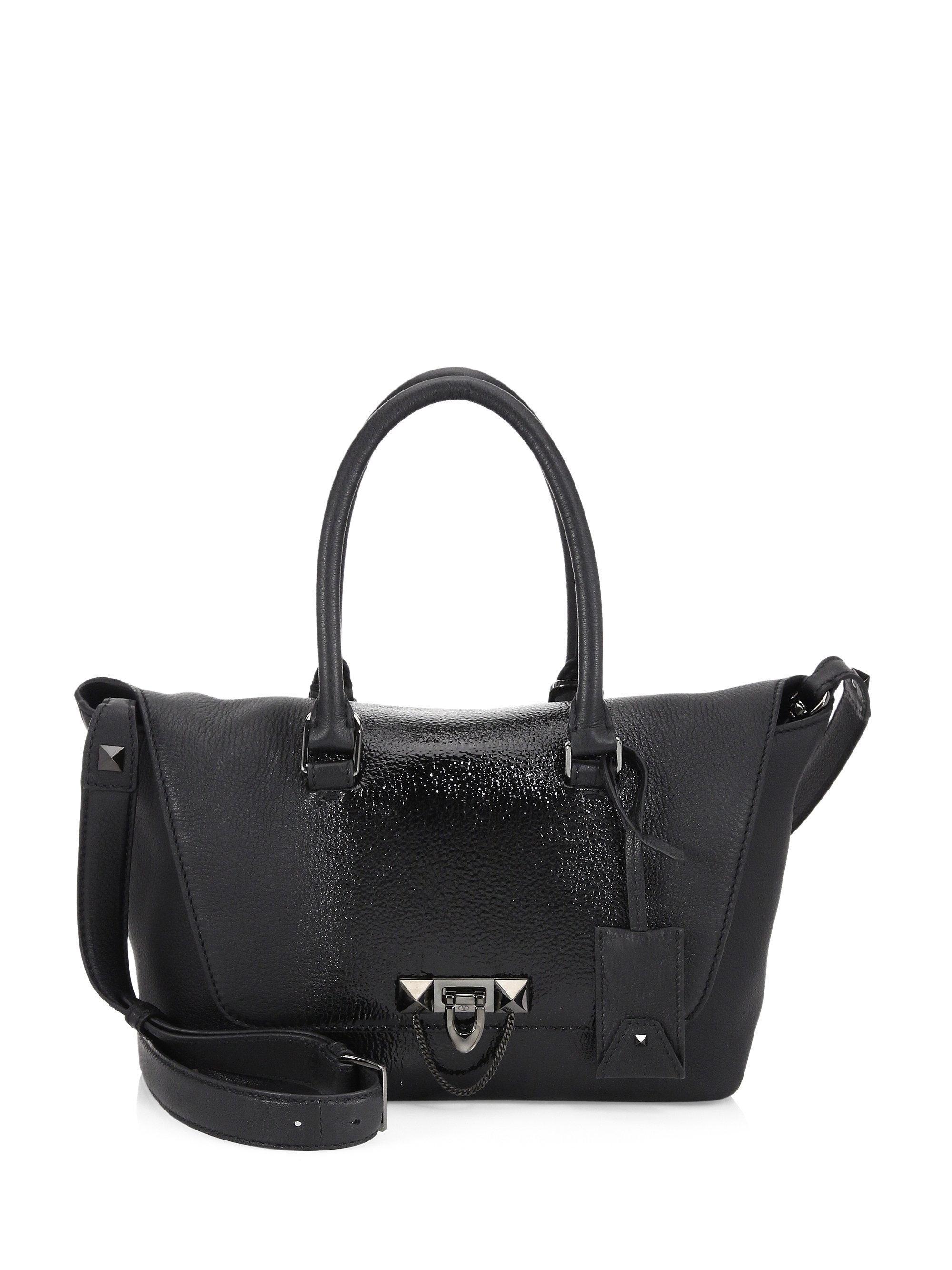 cab44cb9ccd Lyst - Valentino Demilune Leather Crossbody Bag in Black